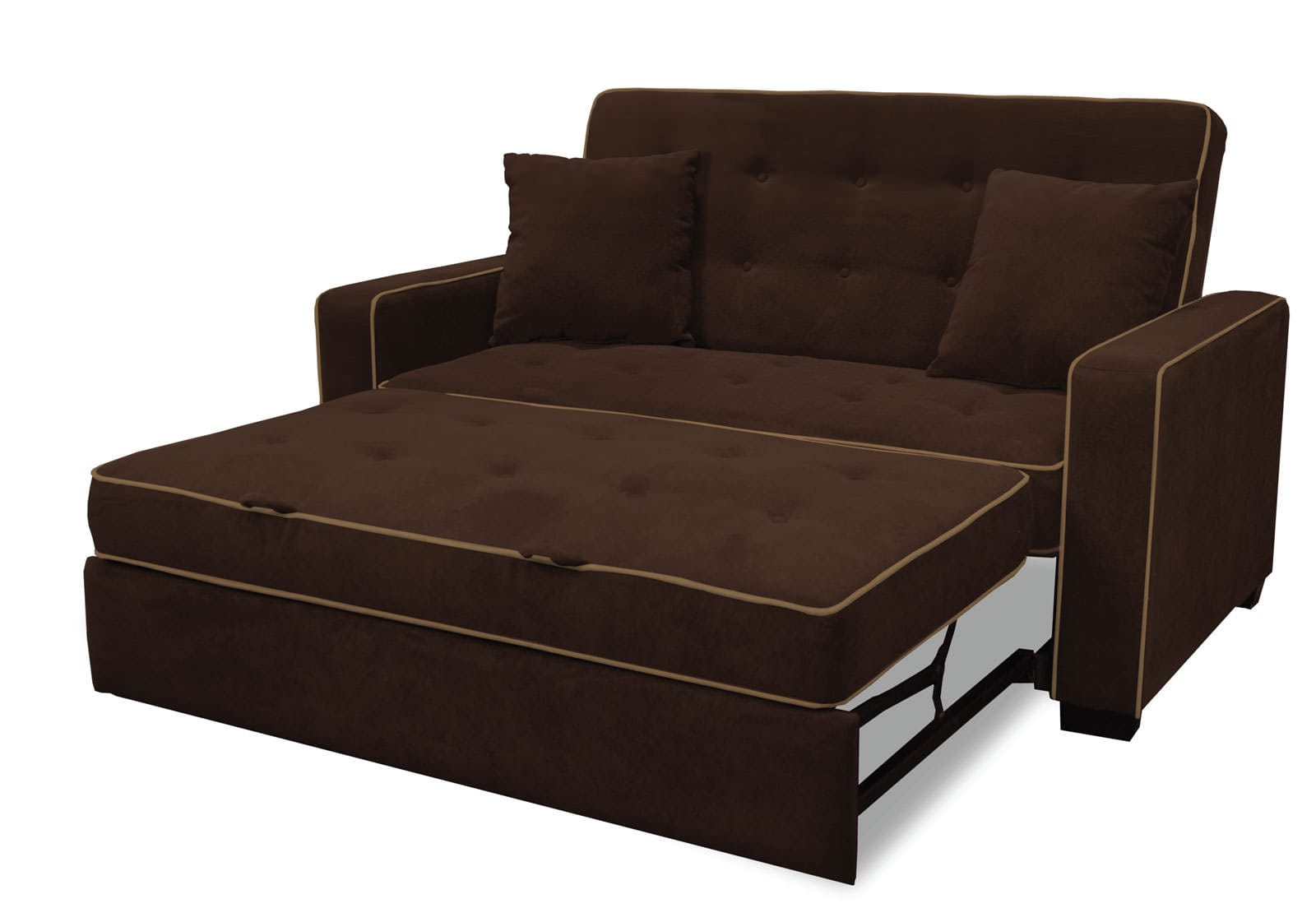 Augustine loveseat full size sleeper java by serta lifestyle Sofa sleeper loveseat