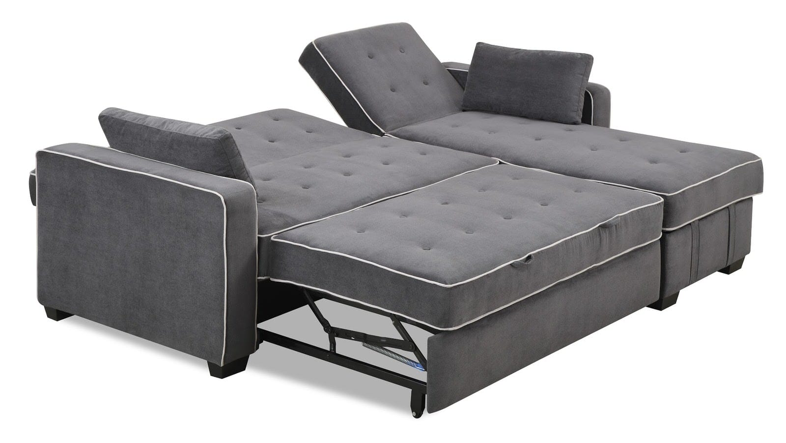 Augustine sectional moon grey by serta lifestyle for Sectional sofa that converts to bed
