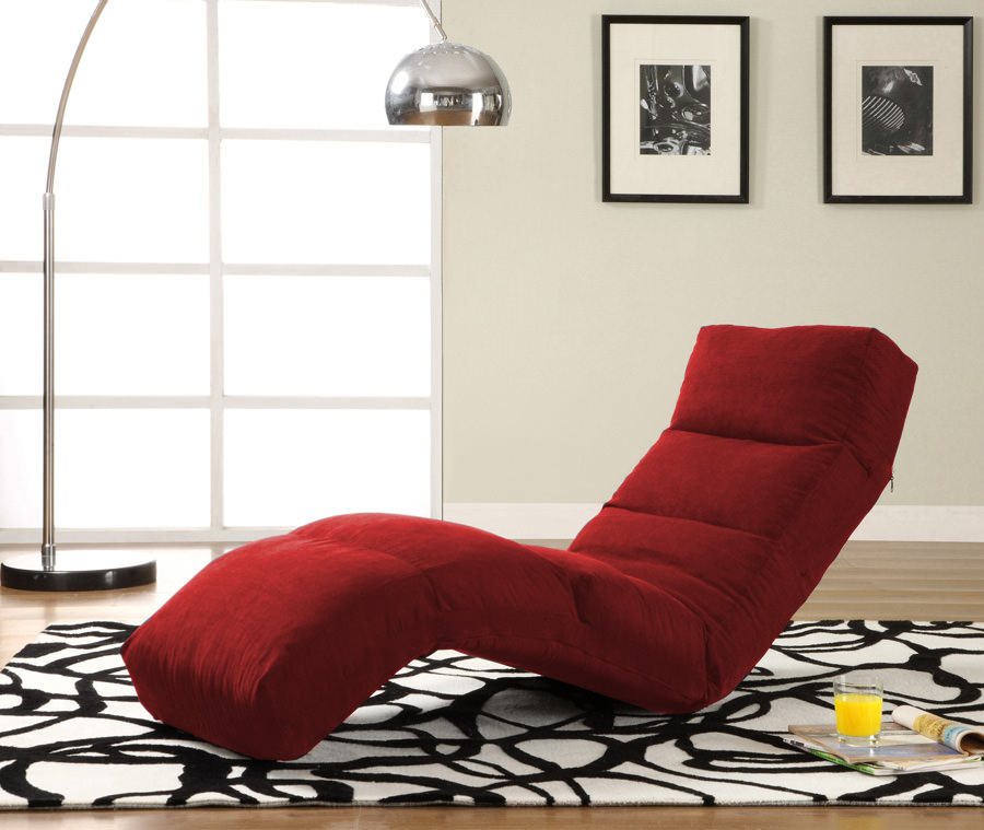 Click Clack Red Jet Sofa Bed Convertible Chair Bed Lounger