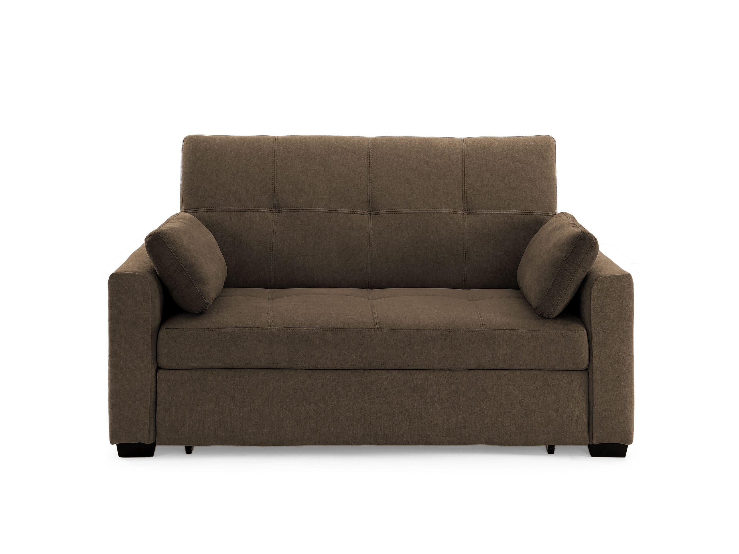 Picture of: Juno Loveseat Full Size Sleeper Cappuccino By Prestige Furniture