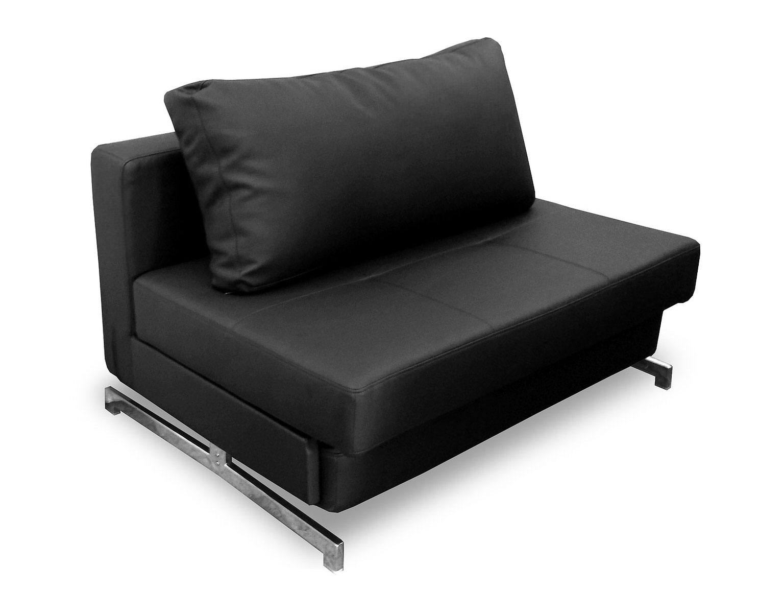 Modern Black Leather Textile Sofa Sleeper K43 1 By Ido