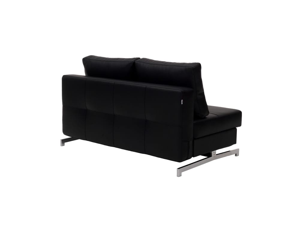 Modern Black Leather Textile Queen Sofa Sleeper K43-2 by IDO