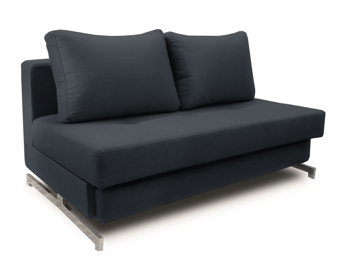 Modern black fabric queen sofa sleeper k43 2 by ido for Black fabric couches