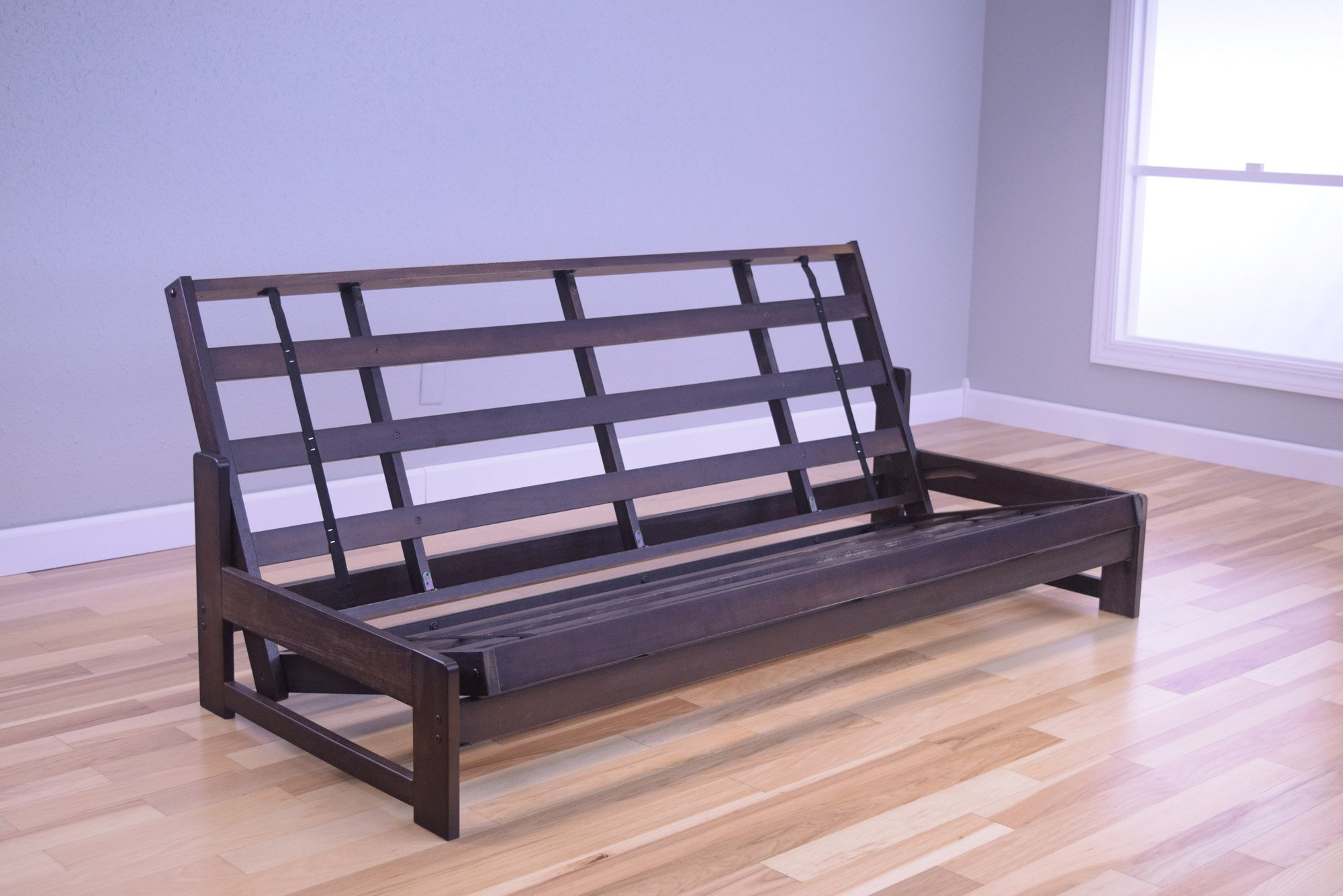 aspen futon frame reclaim mocha by kodiak