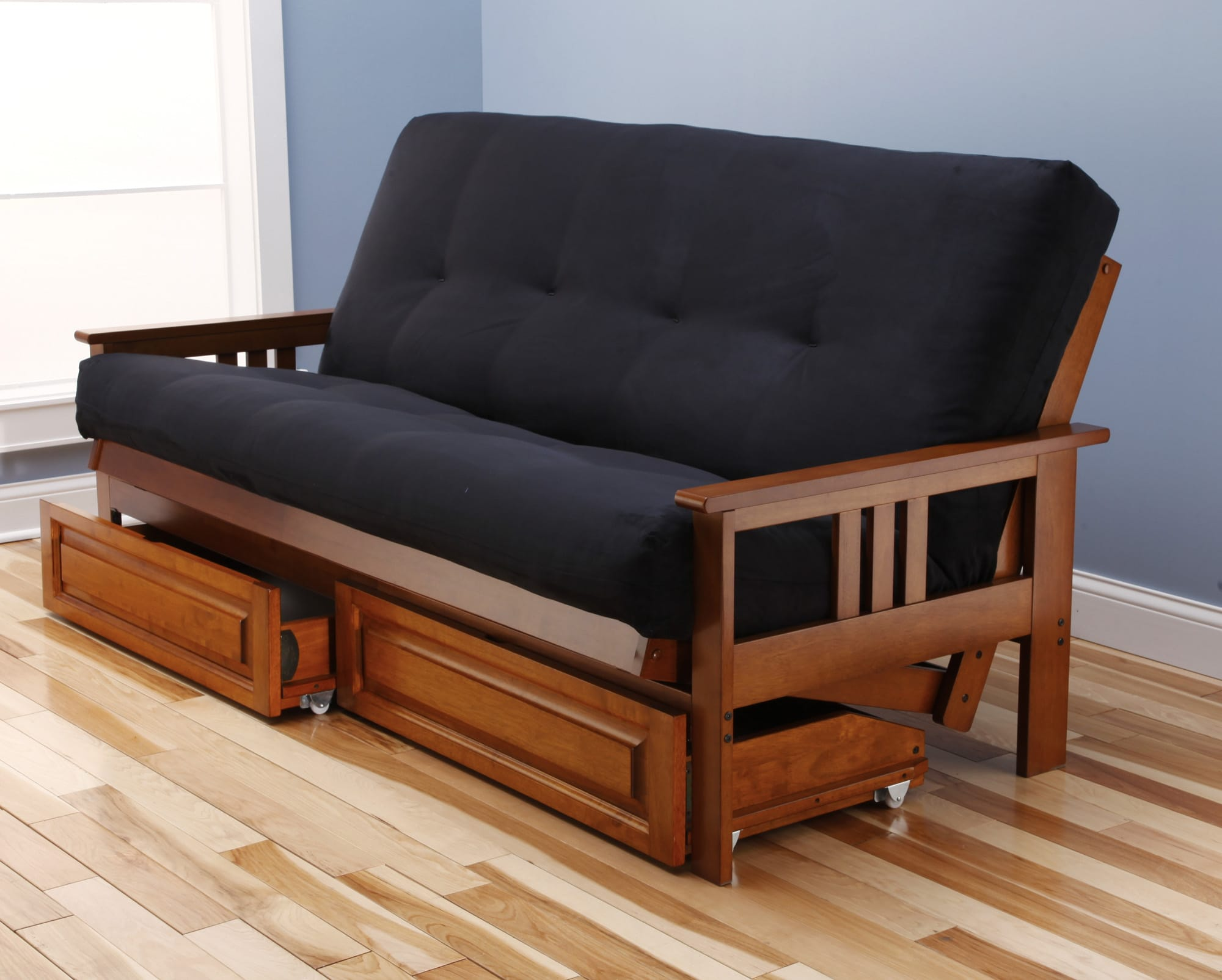 Monterey futon frame barbados by kodiak for Mission style futon assembly instructions