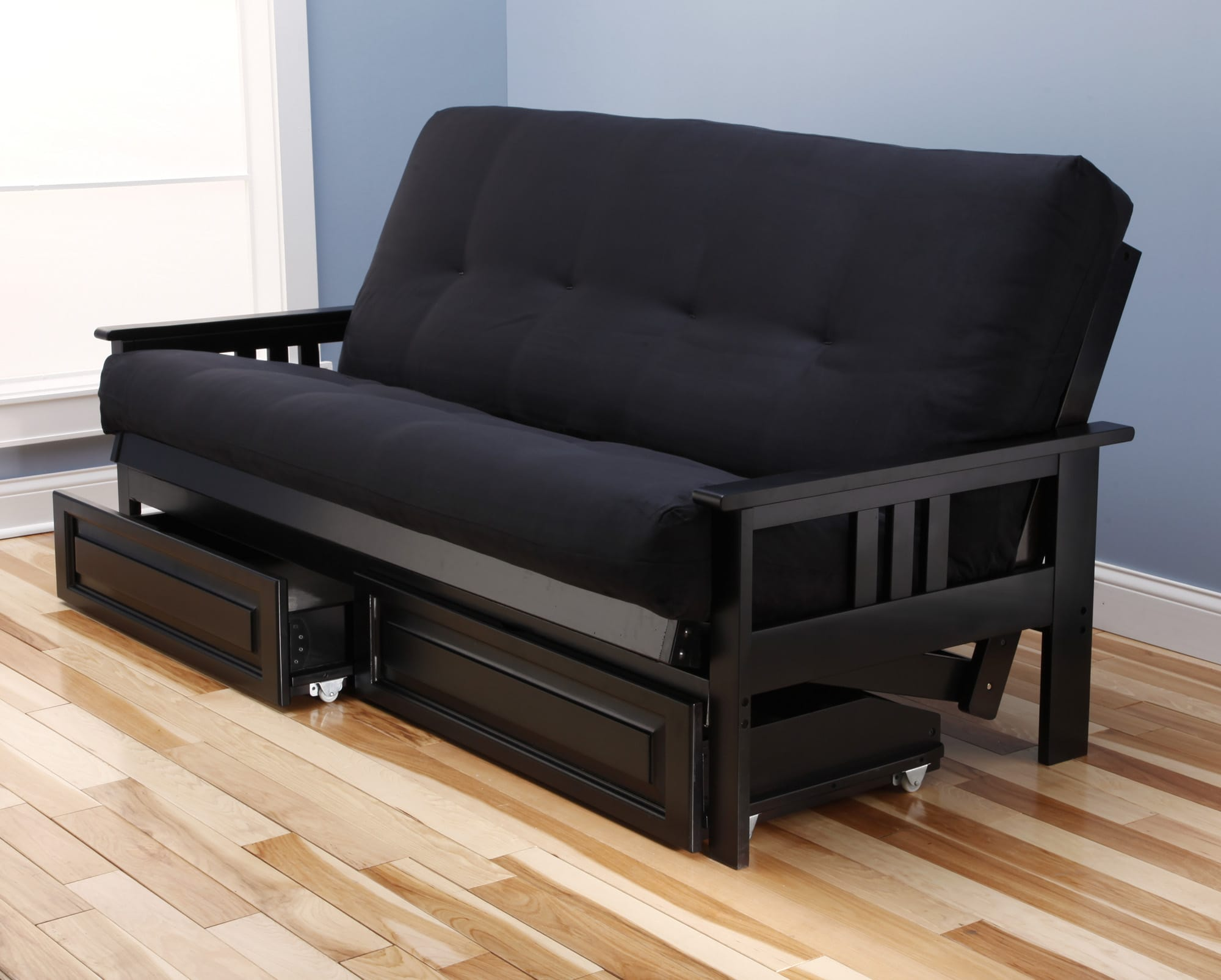 monterey futon frame black by kodiak