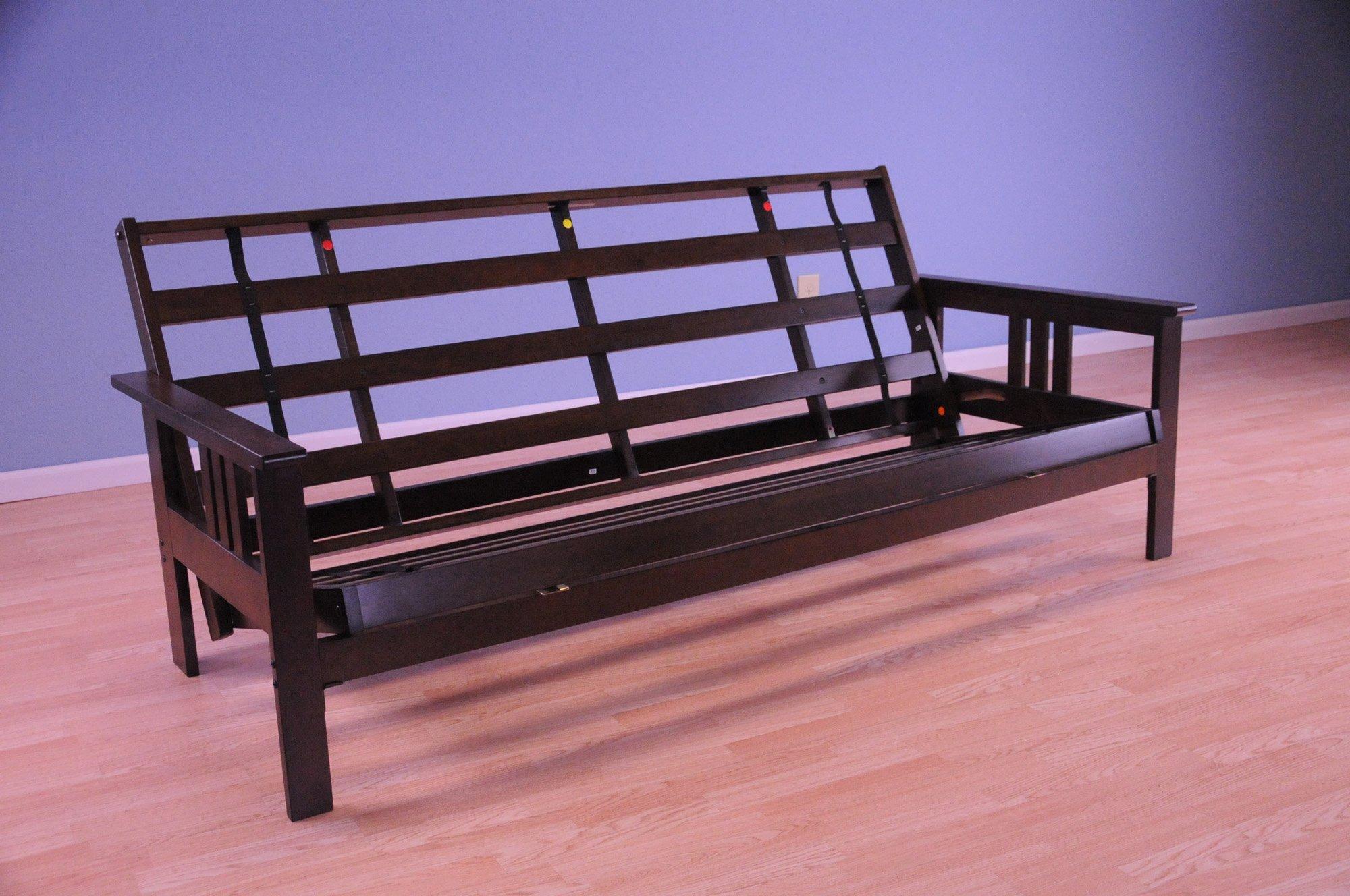 queen size futon frame and mattress arden monterey futon frame espresso by kodiak