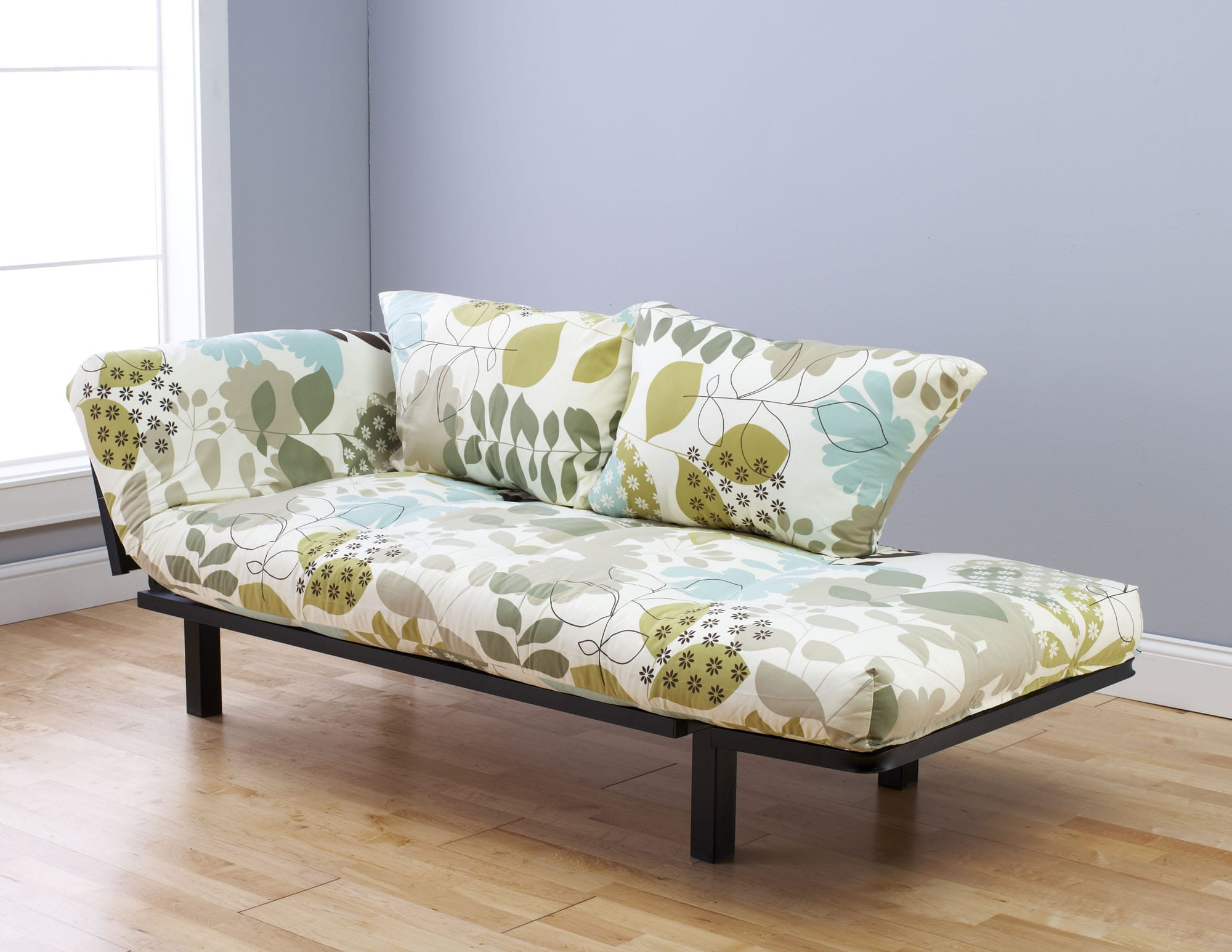 Spacely Futon Daybed Lounger With Mattress English Garden By Kodiak