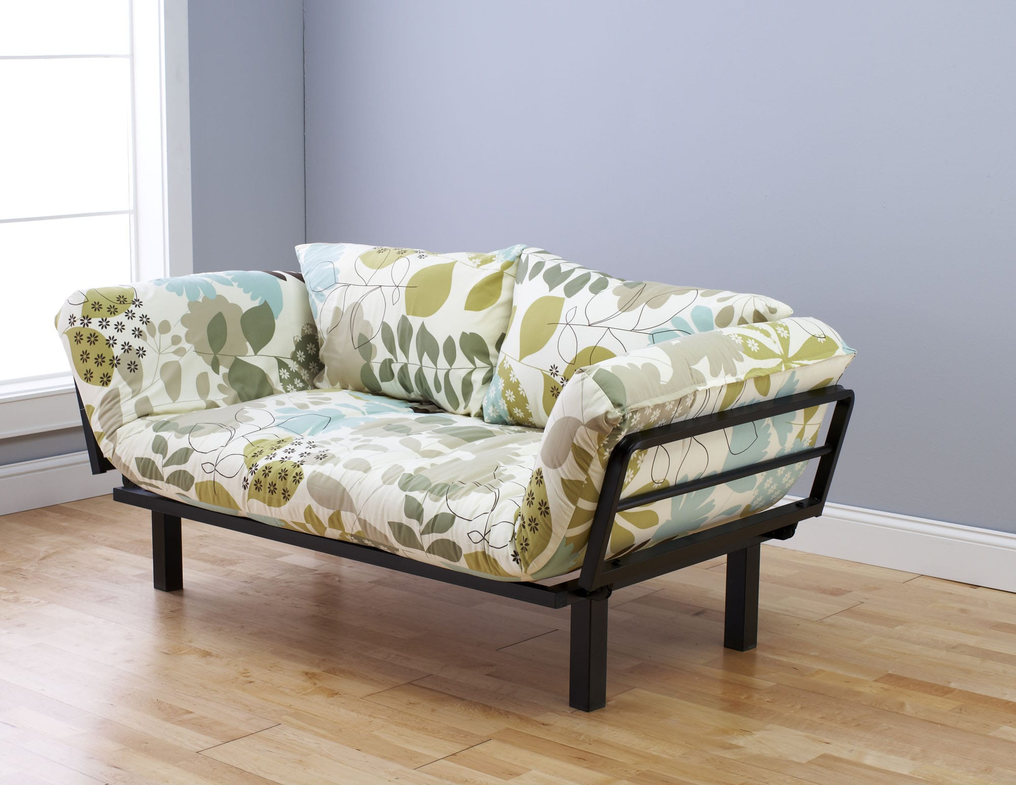 Spacely Futon Daybed Lounger With Mattress English Garden