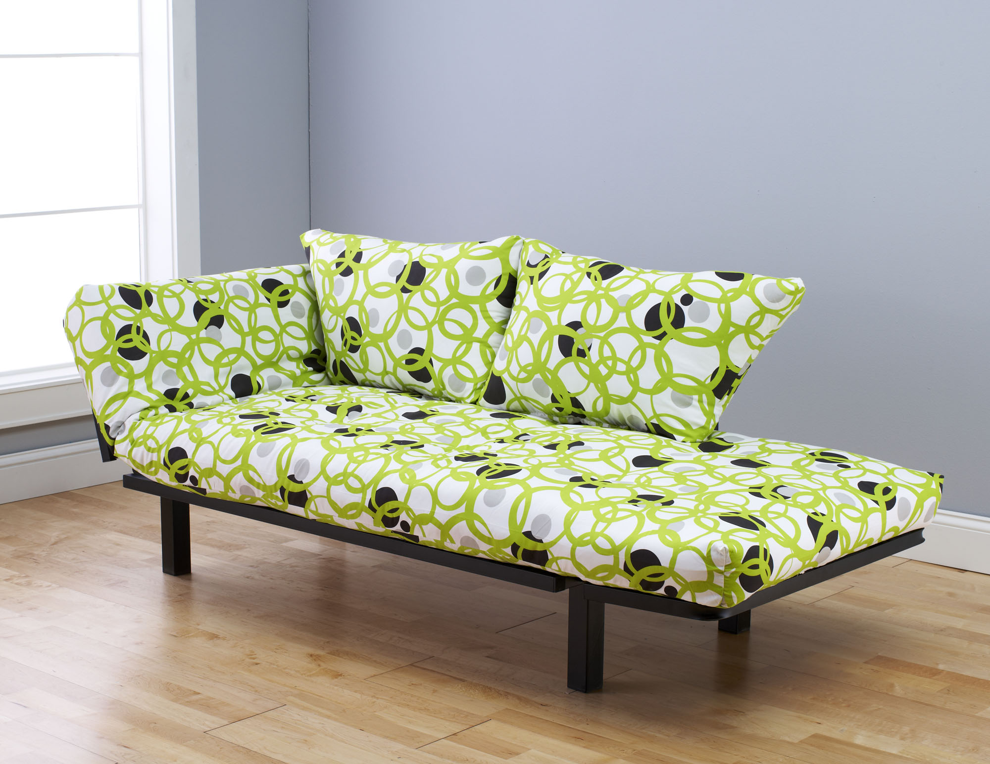 Spacely Futon Daybed Lounger with Mattress Full Circle by Kodiak