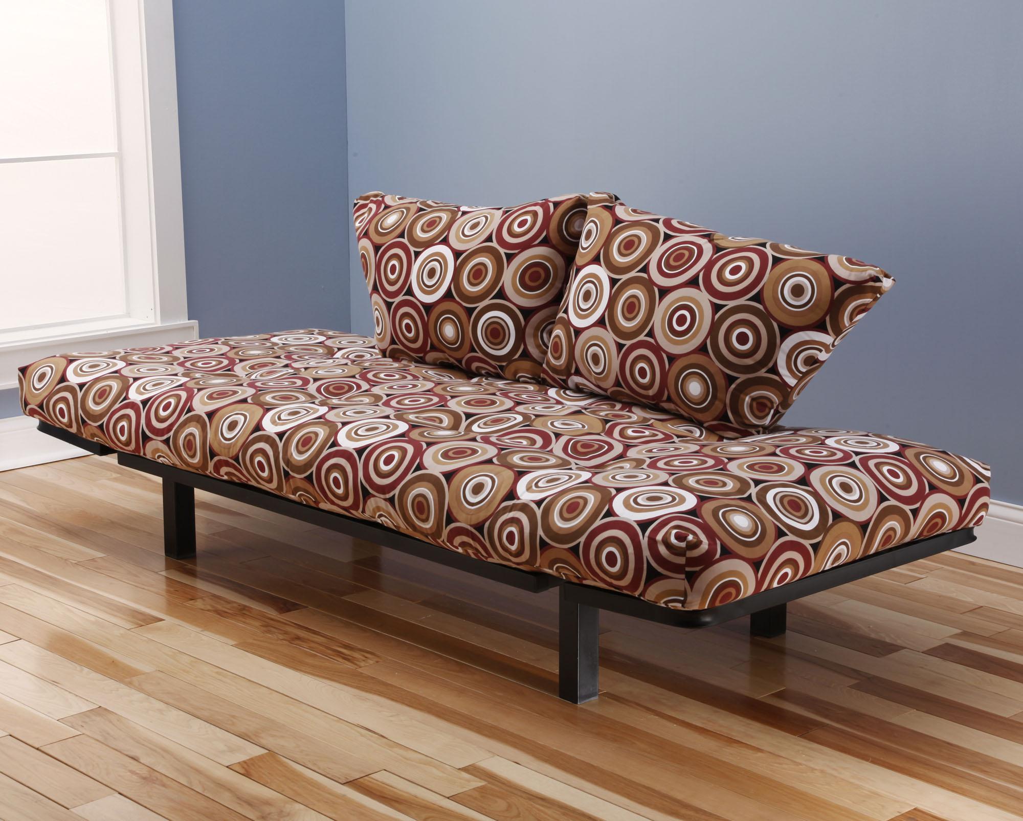 spacely futon daybed lounger with mattress rockin around by kodiak  rh   futonland