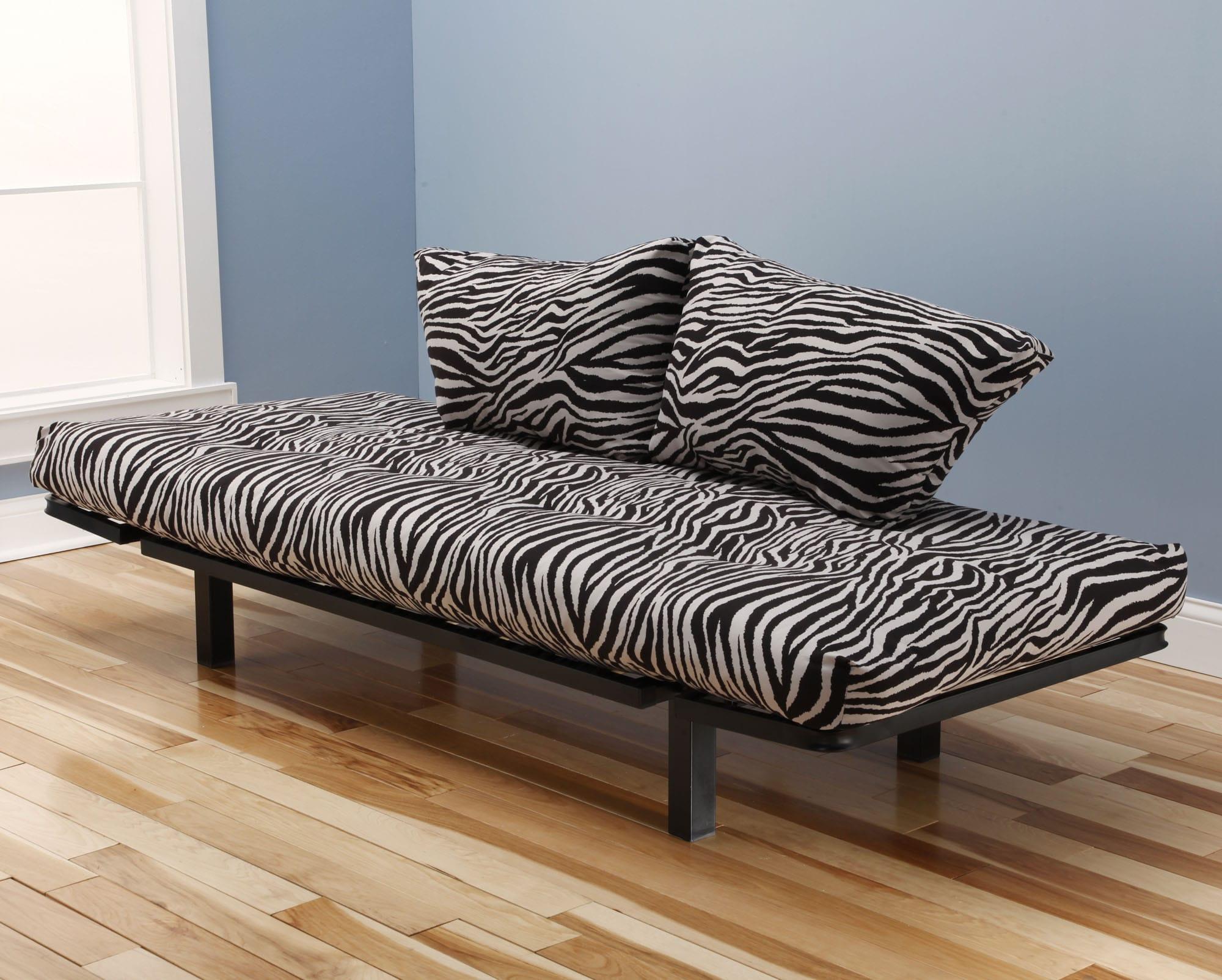 Spacely Futon Daybed Lounger With Mattress Zebra Zen By Kodiak