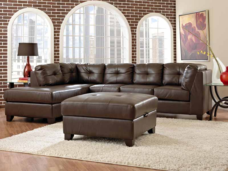 Verve Rossi Brown Sectional Sofa