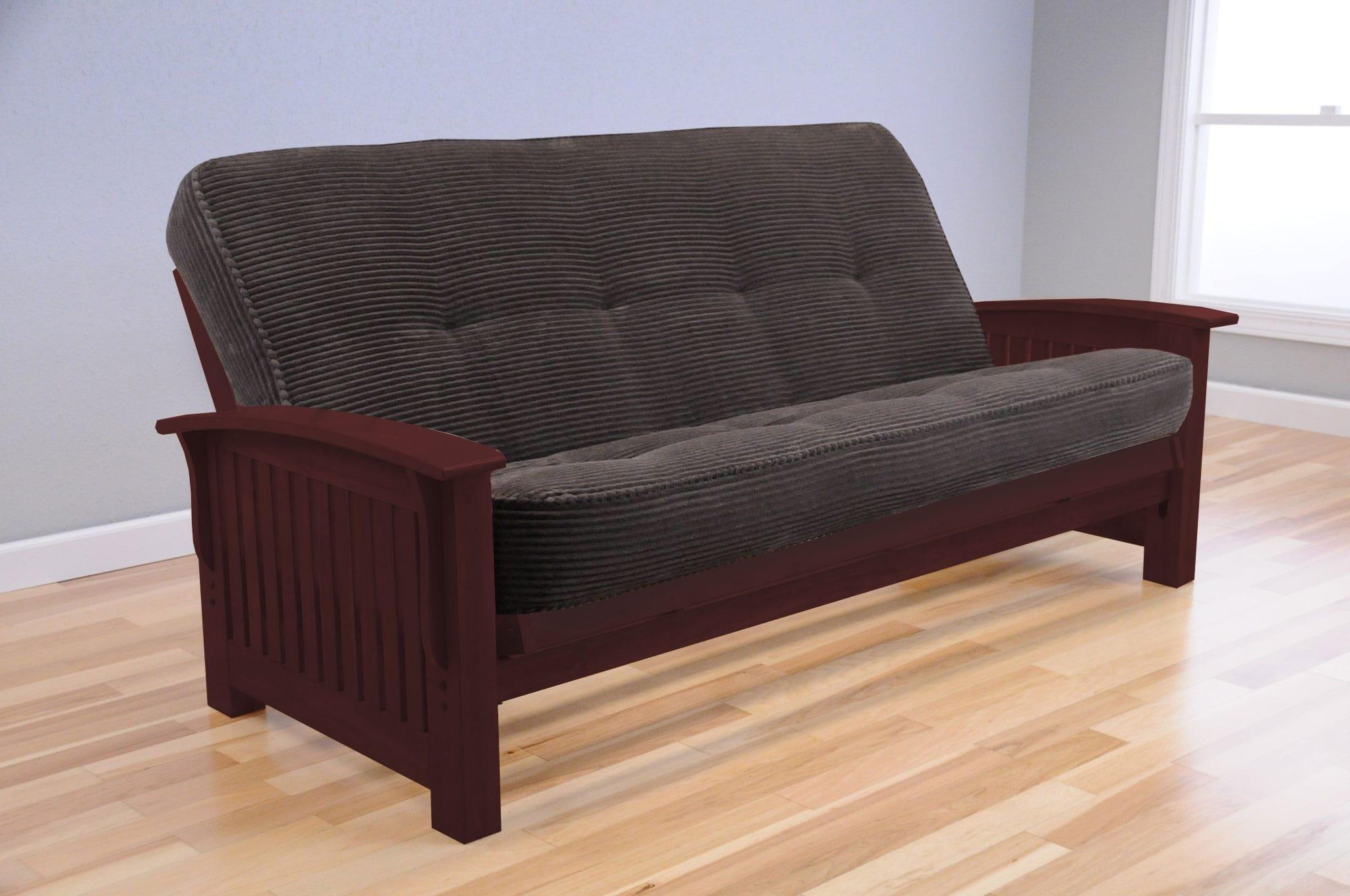 Premium Kingston Full Size Rosewood Futon Set