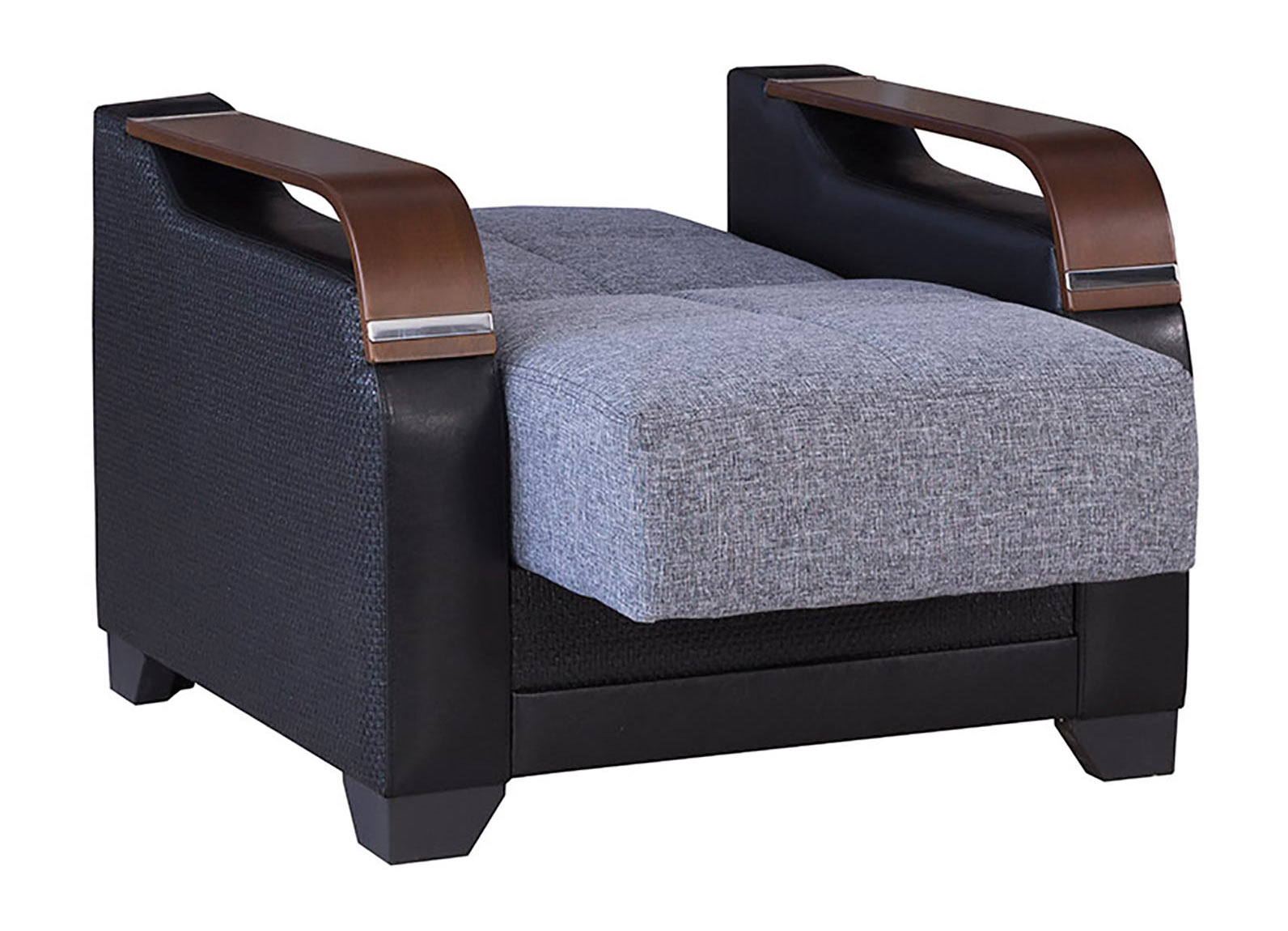 La reina moon gray convertible chair by casamode for Sofa bed 549 artek