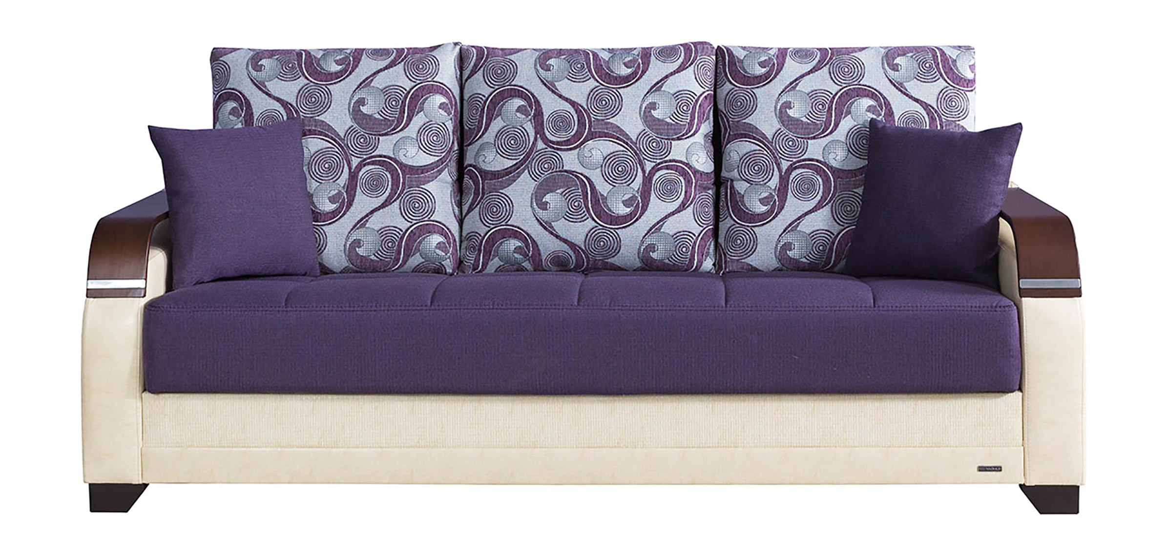 La reina moon dark purple convertible sofa bed by casamode for Purple sofa
