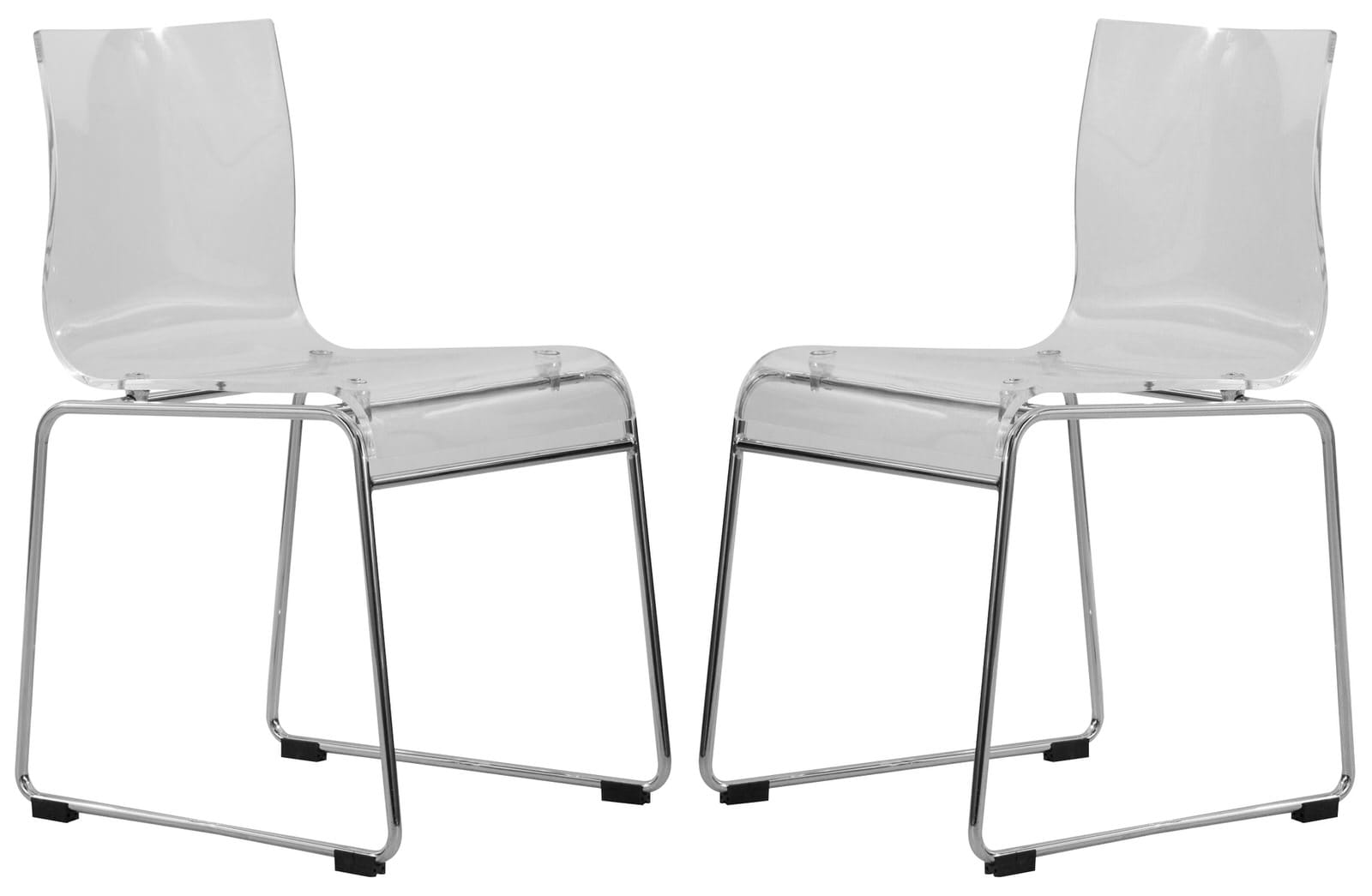 Terrific Lima Modern Clear Acrylic Chair Set Of 2 By Leisuremod Spiritservingveterans Wood Chair Design Ideas Spiritservingveteransorg