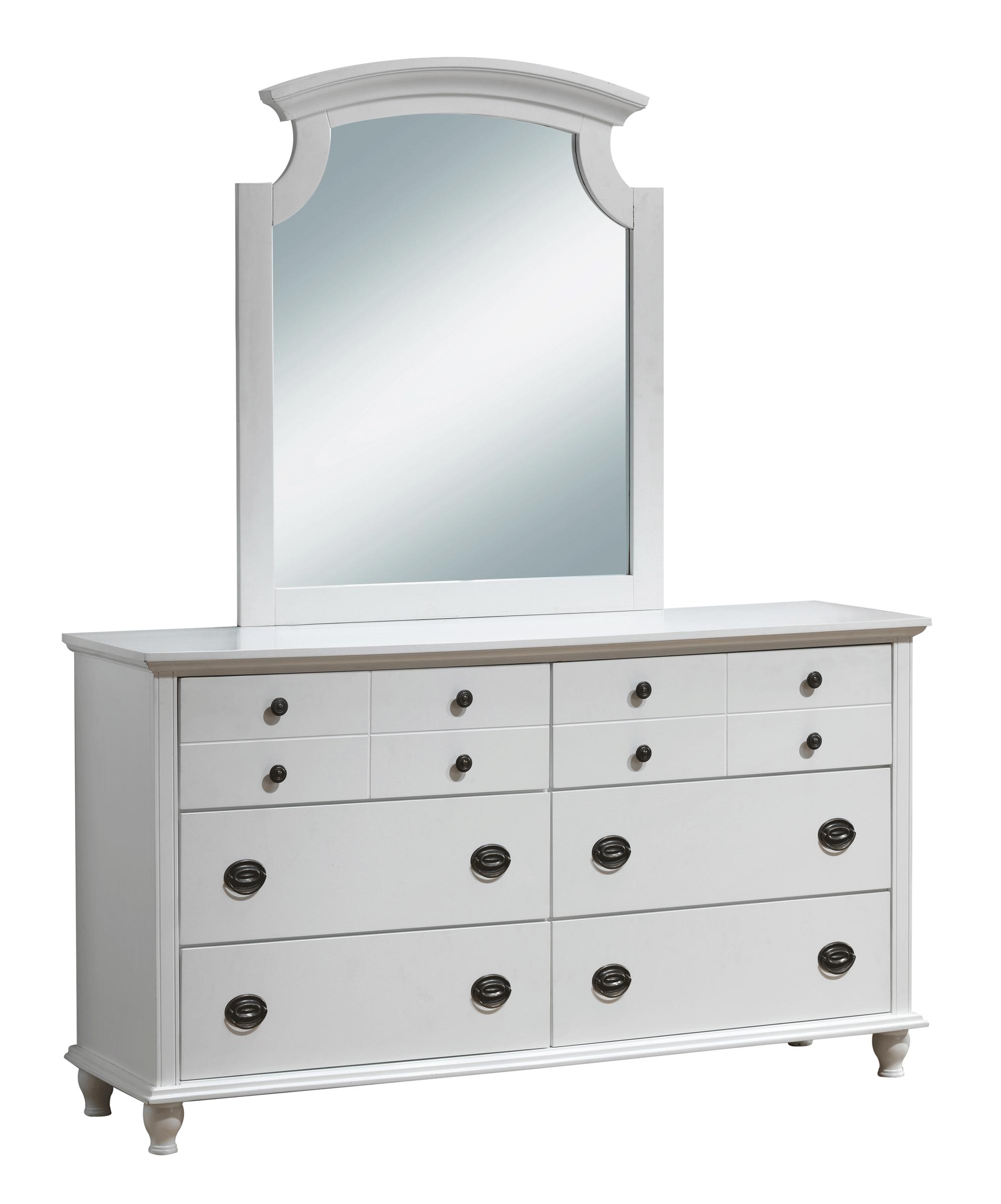 Leila Kids White Dresser By Global Furniture