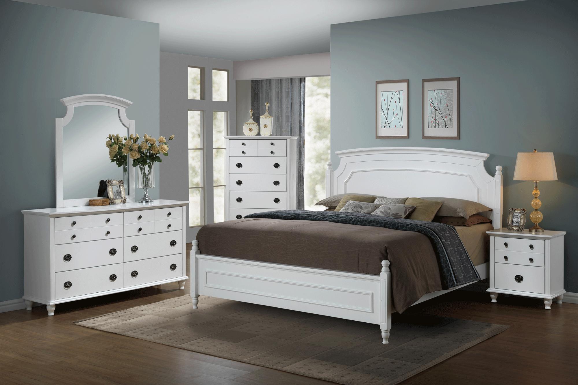 Global Bedroom Furniture Leila White Bedroom Set By Global Furniture