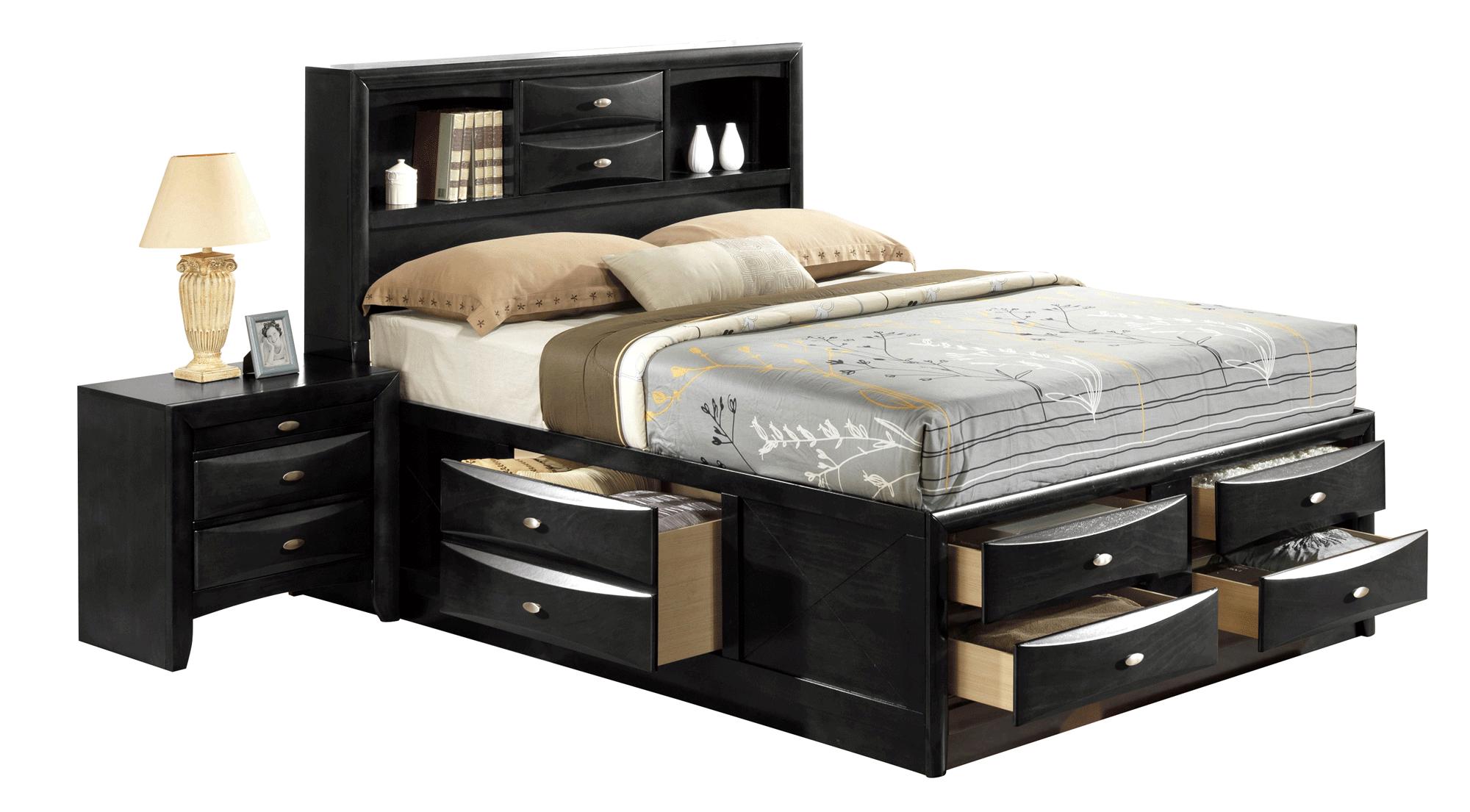 Linda Black Bedroom Set by Global Furniture