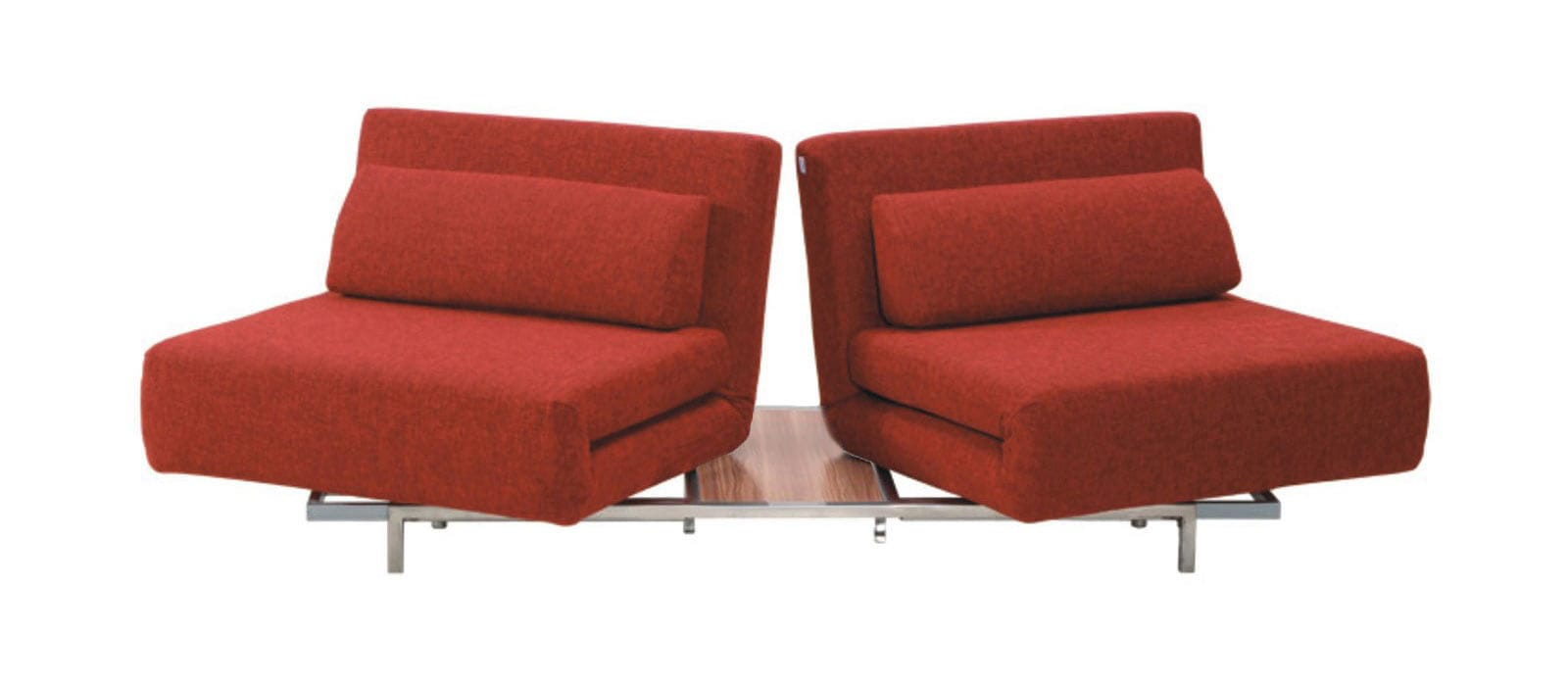 Swivel Convertible Red Fabric Sofa Bed LK06-2 by IDO
