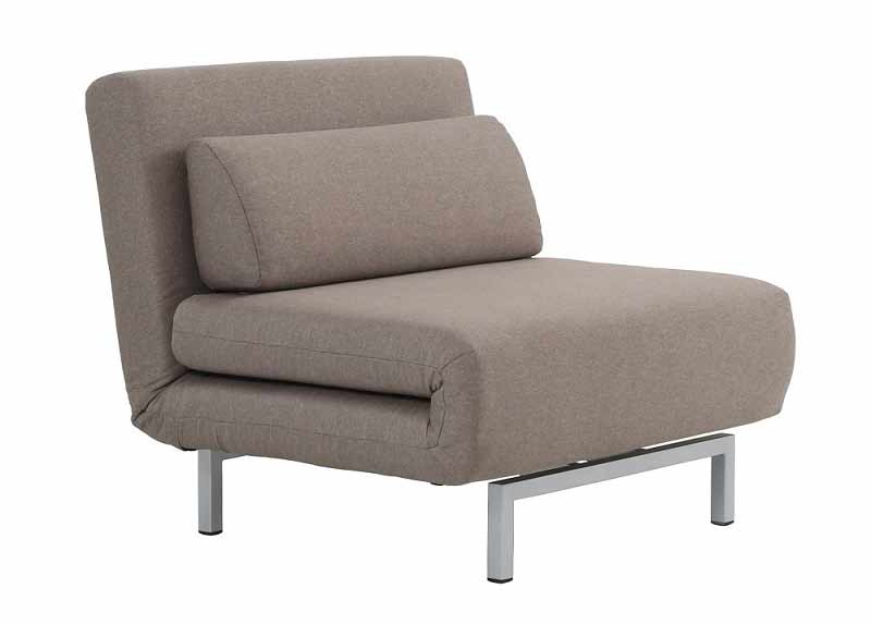check out ba3b5 984e7 Lisse Convertible Beige Fabric Chair Bed