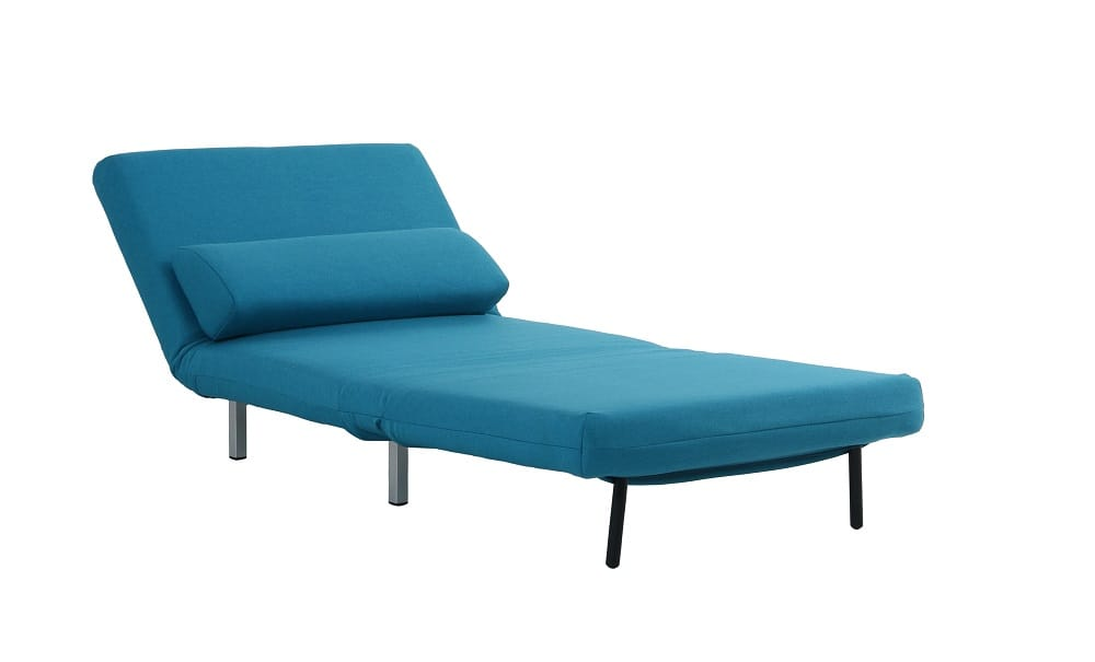 Convertible Teal Fabric Chair Bed LK06 by IDO
