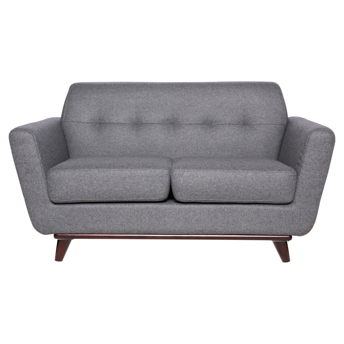 Fine Luray Modern Tufted Loveseat With Cherry Oak Base In Light Gray By Leisuremod Gmtry Best Dining Table And Chair Ideas Images Gmtryco