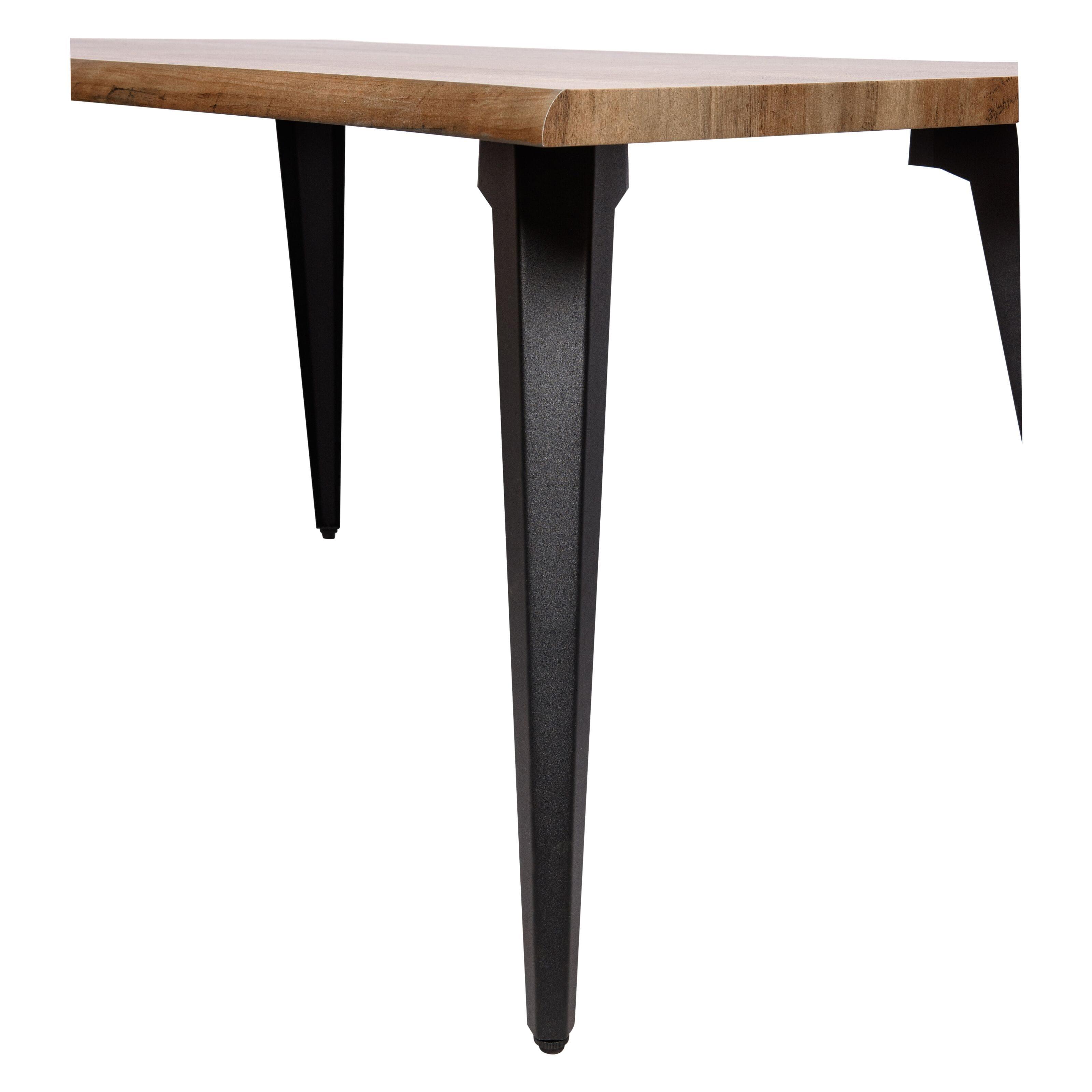 Ravenna Dark Brown Modern Rectangular Wood 63 Dining Table W Metal Legs By Leisuremod