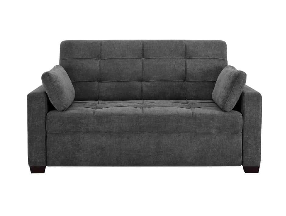 Serta Hampton Gray Convertible Sofa, Serta Sofa And Loveseat