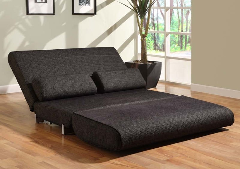 Floor sample yale convertible sofa bed black by lifestyle solutions Bunk bed couch convertible