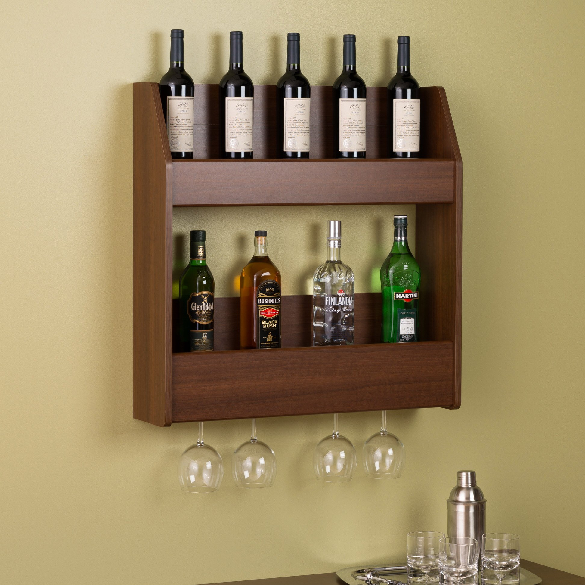 342203271658769557 likewise 2 Tier Floating Wine and Liquor Rack by Prepac besides 25 Beautiful Corner Cabi  Ideas Home furthermore 180975345118 moreover Feature Friday Vintage Ladders. on liquor display bar shelves