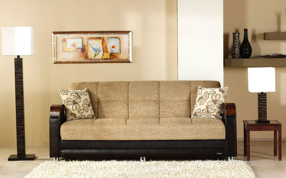 Luna Fulya Brown Convertible Sofa Bed By Istikbal Sunset