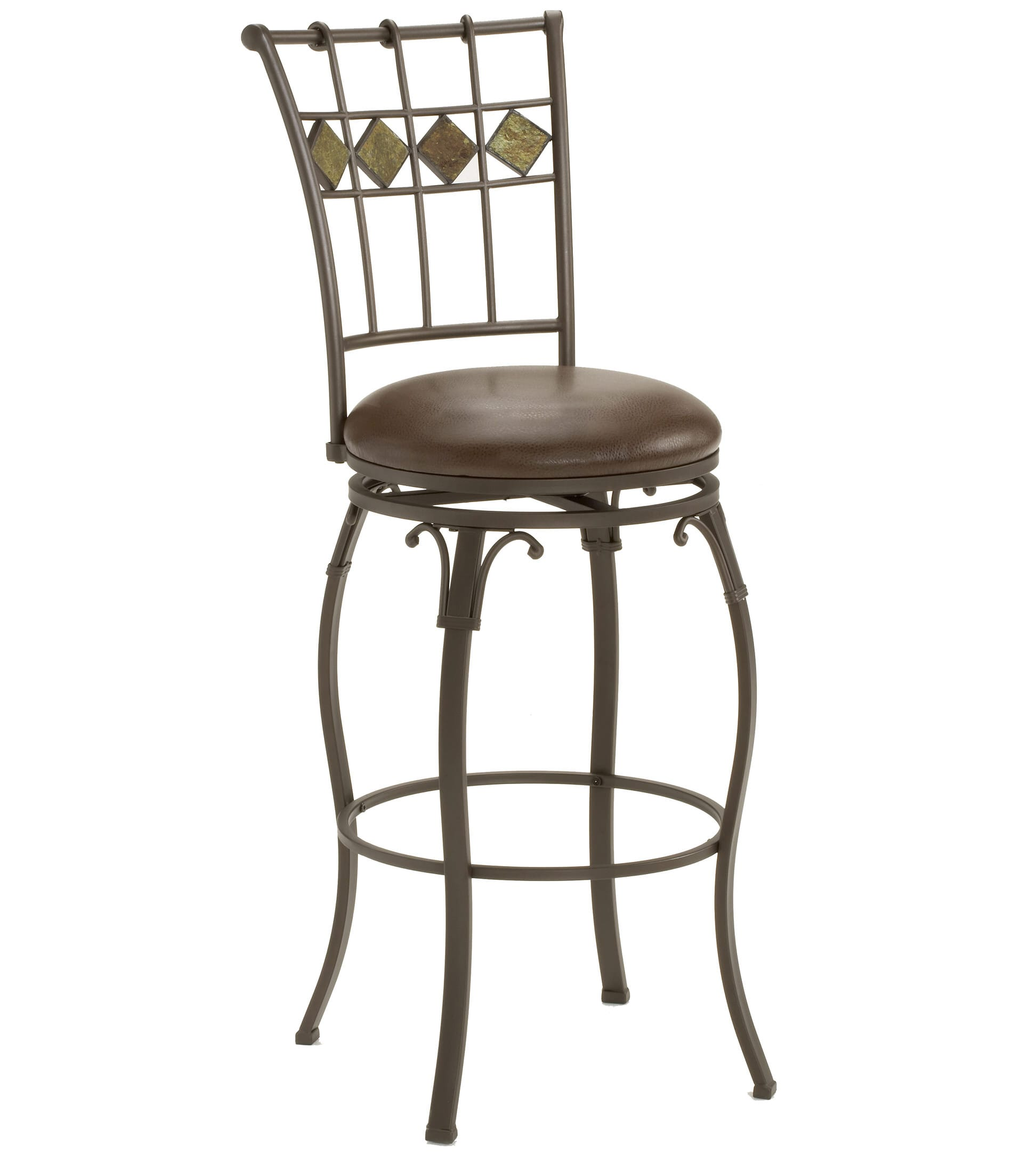 Outstanding Lakeview Slate Back Swivel Counter Stool 4264 826 By Hillsdale Creativecarmelina Interior Chair Design Creativecarmelinacom