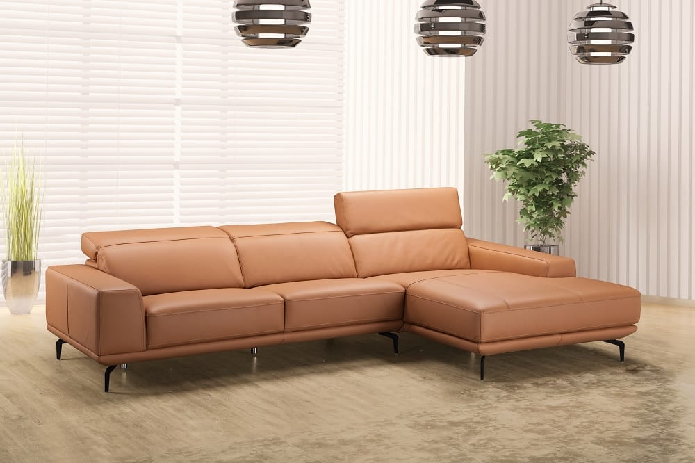 Lima Premium Italian Leather Sectional by J&M Furniture