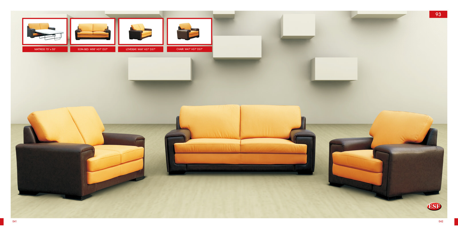 Faux Leather Sofa Beds - Futonland Functional Furniture and