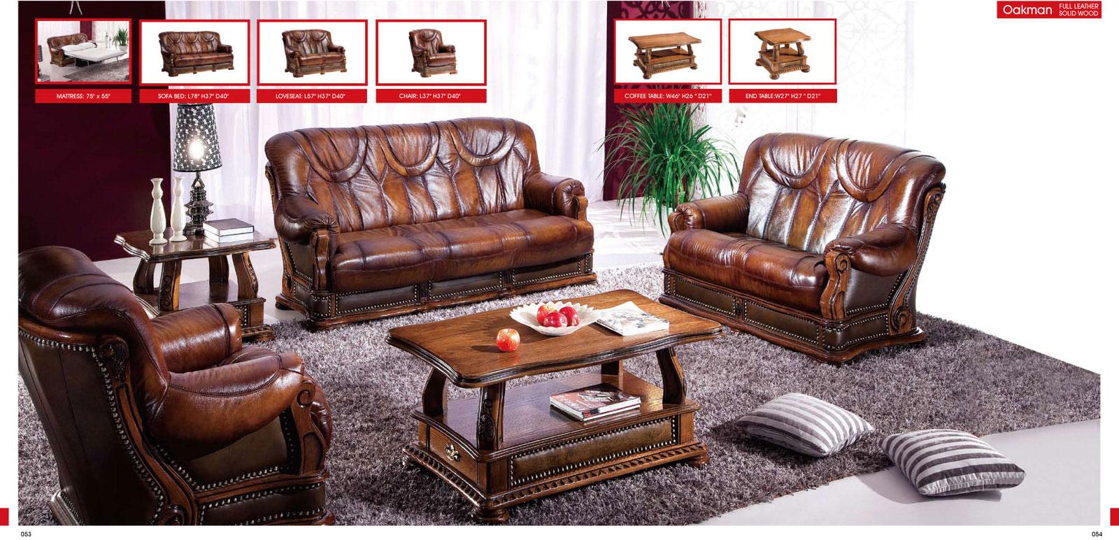 Oakman Leather Sofa Set by ESF