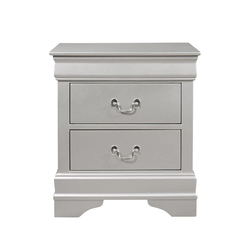 Marley Silver Night Stand By Global Furniture