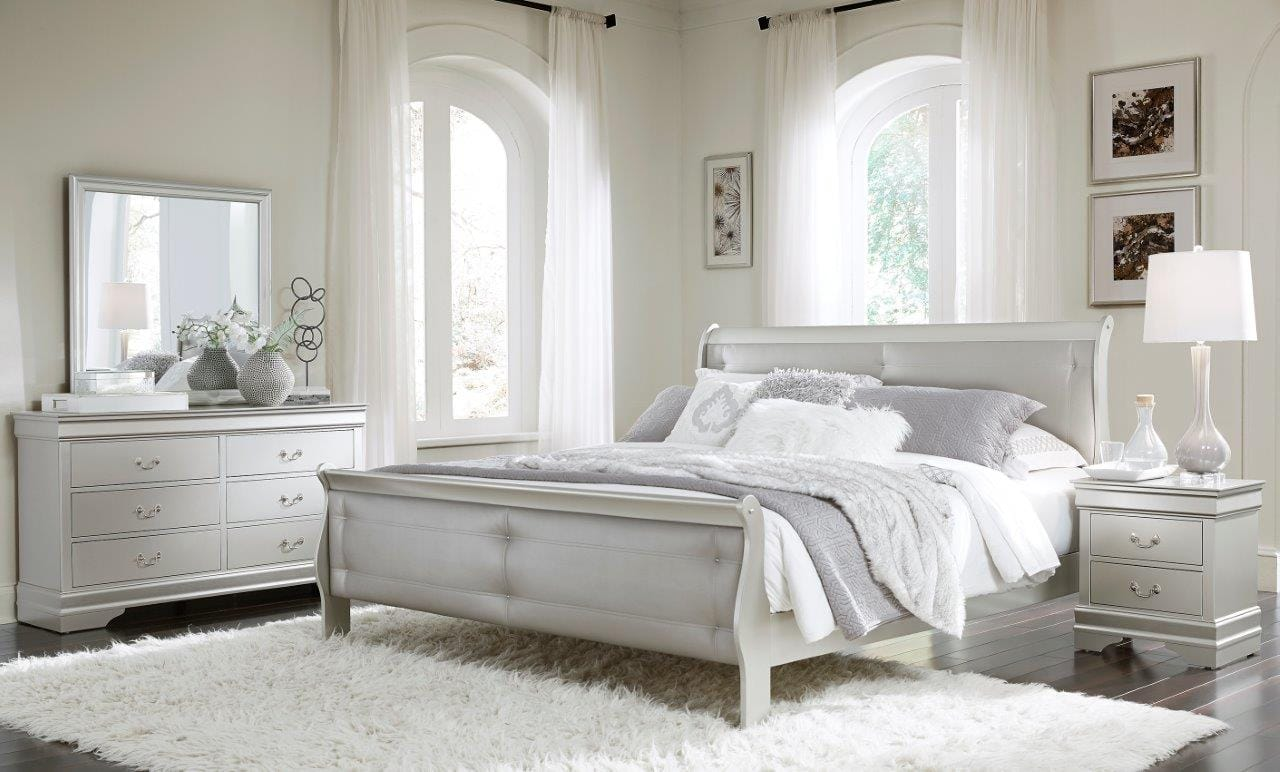 Marley Silver Bedroom Set By Global Furniture