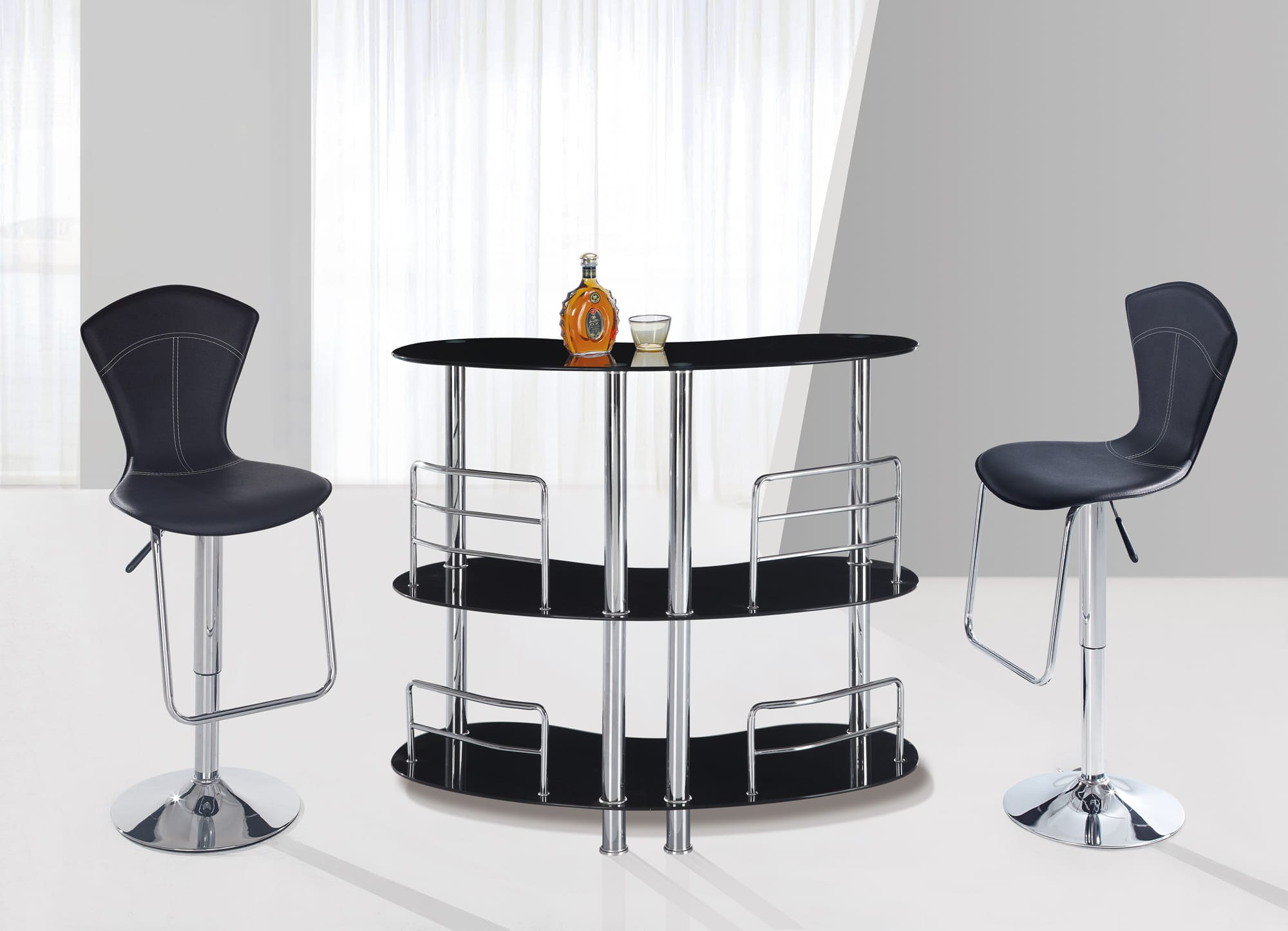 Bar table m02 black by global furniture for 99 pub table