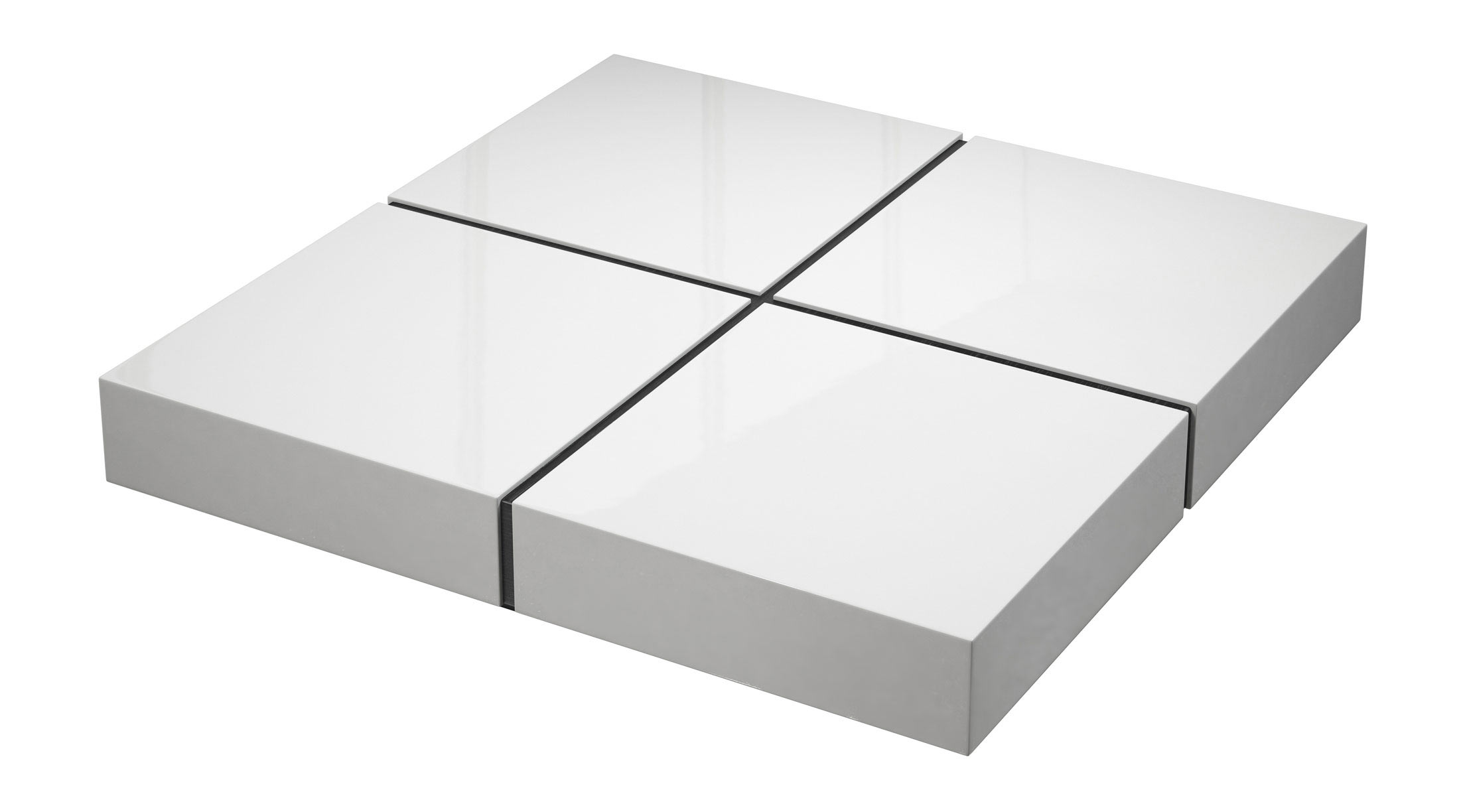 Dean Coffee Table White Lacquer by Modloft