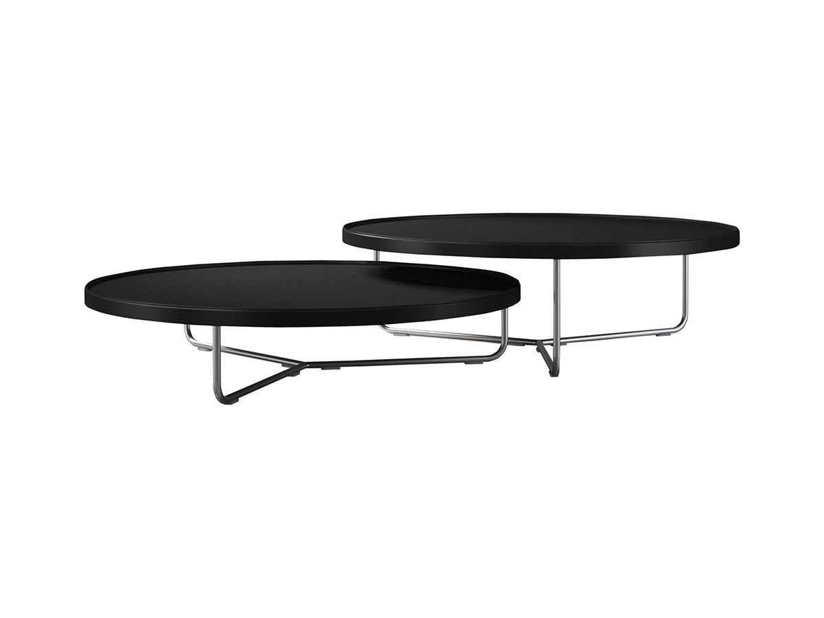 Pleasant Adelphi Nesting Coffee Table Black Leather By Modloft Caraccident5 Cool Chair Designs And Ideas Caraccident5Info