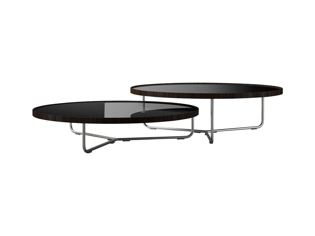 adelphi nesting coffee table black lacquer on cathedral ebony
