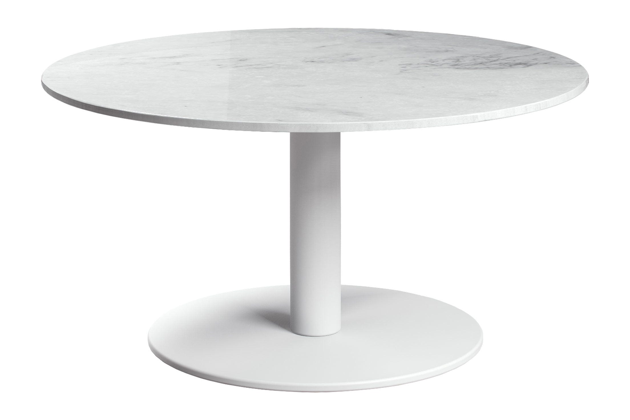 Bleecker High Coffee Table White Marble by Modloft