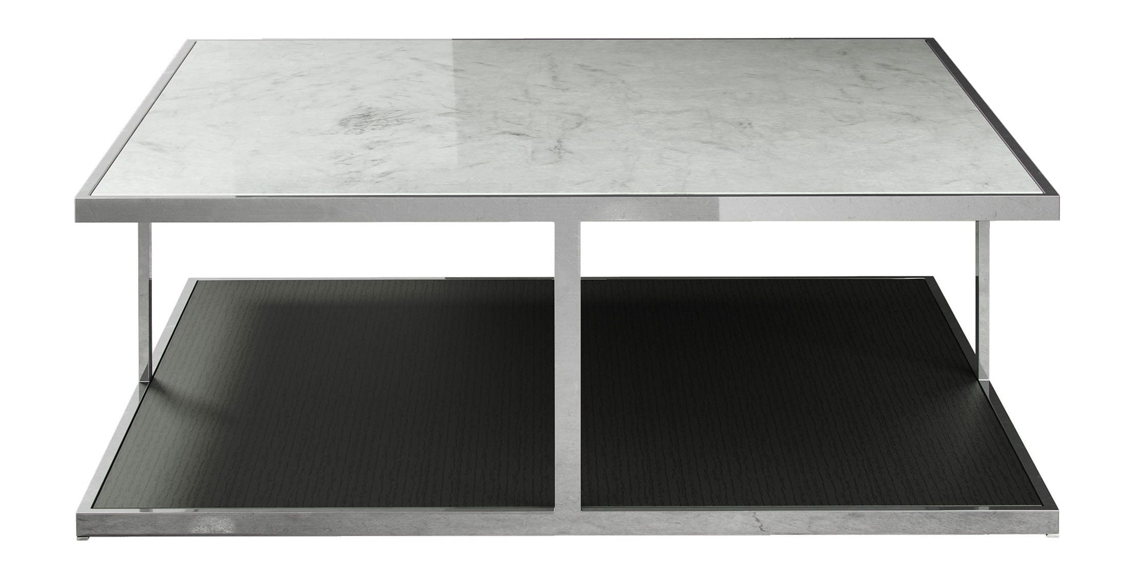 Ann Coffee Table White Marble on Wenge by Modloft