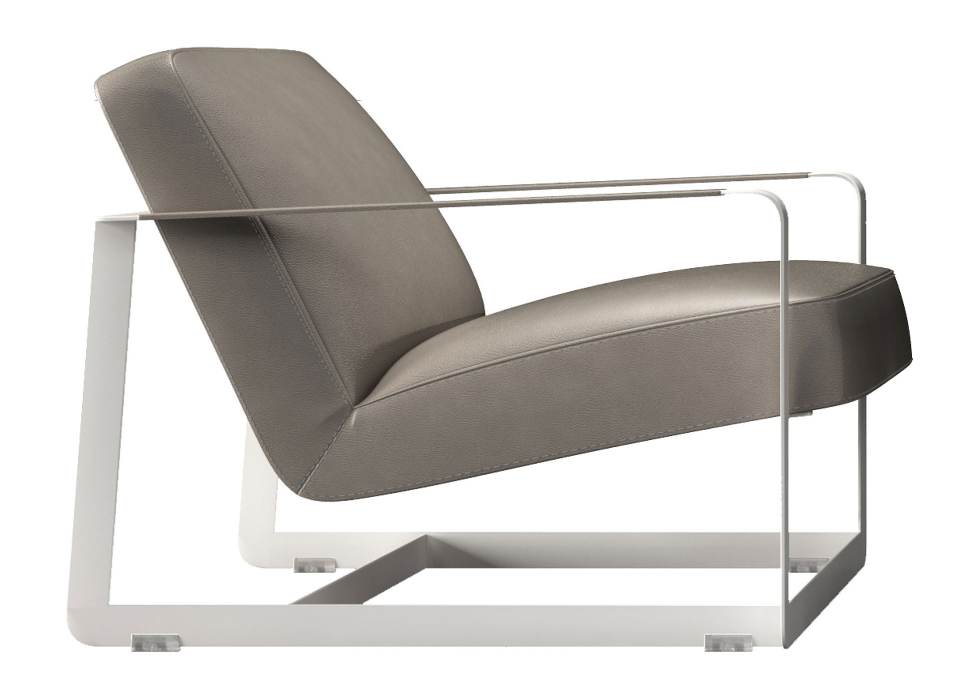 Crosby Lounge Chair Castle Gray by Modloft
