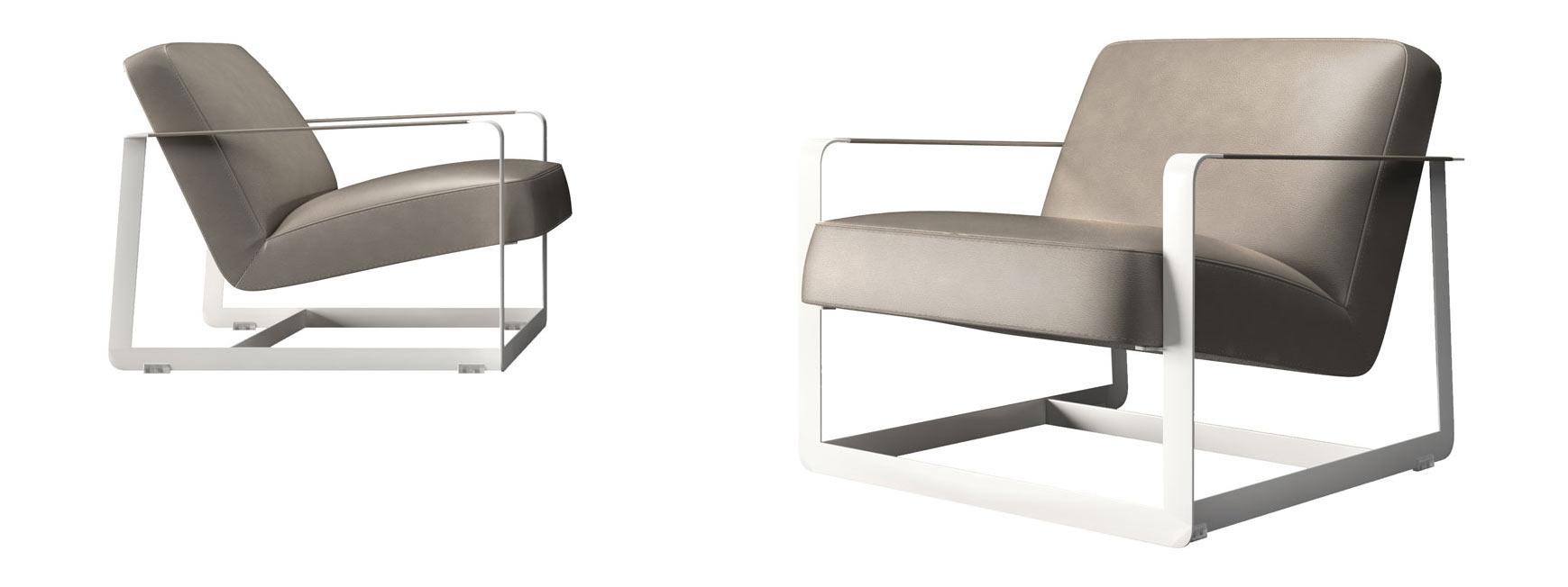 Crosby lounge chair castle gray by modloft