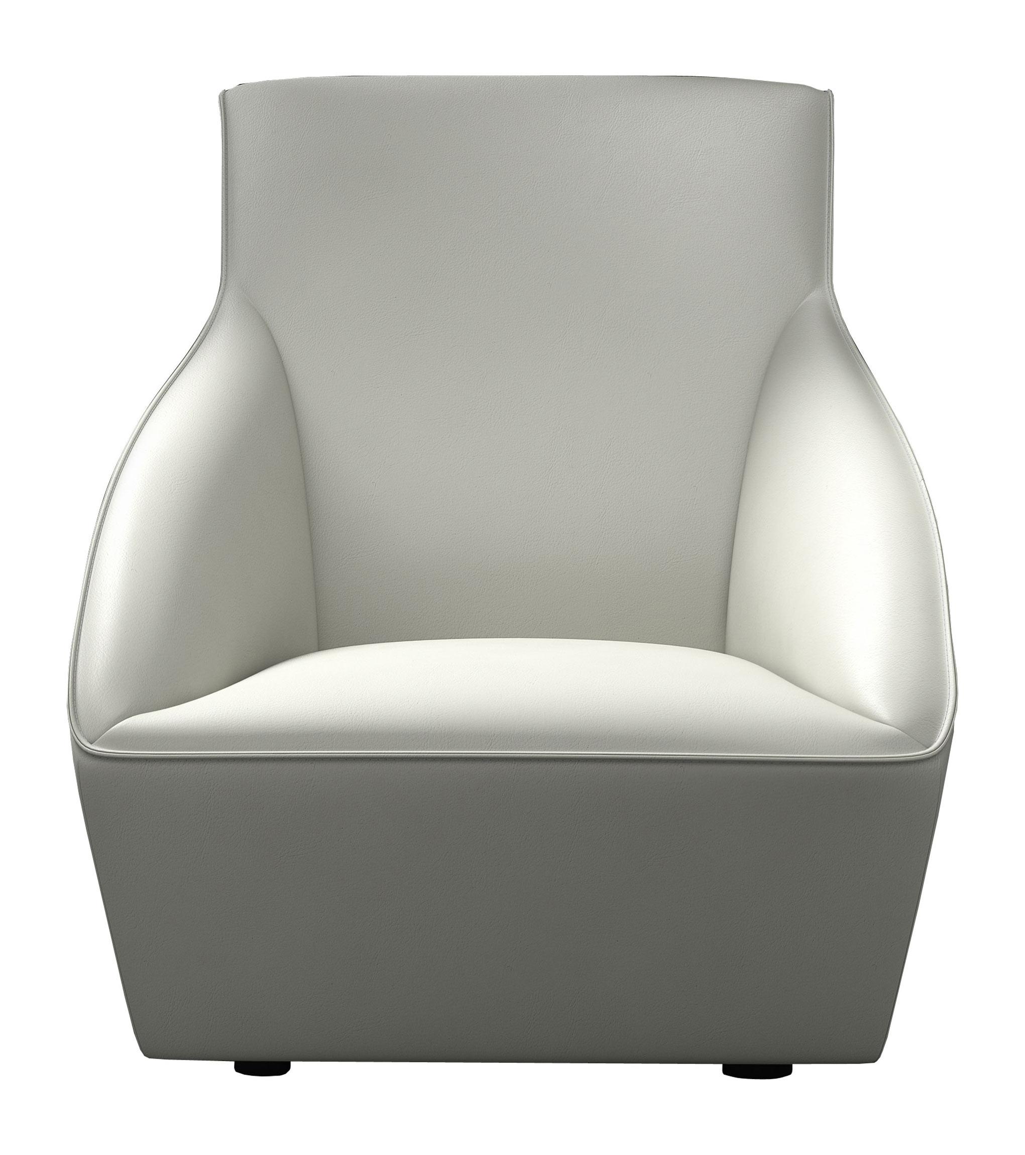 Enjoyable Forsyth Lounge Chair White By Modloft Machost Co Dining Chair Design Ideas Machostcouk