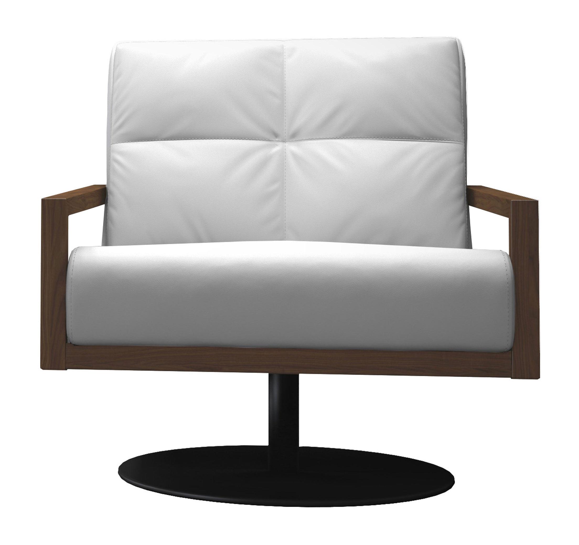 Clarkson Lounge Chair Soft Snow and Walnut by Modloft