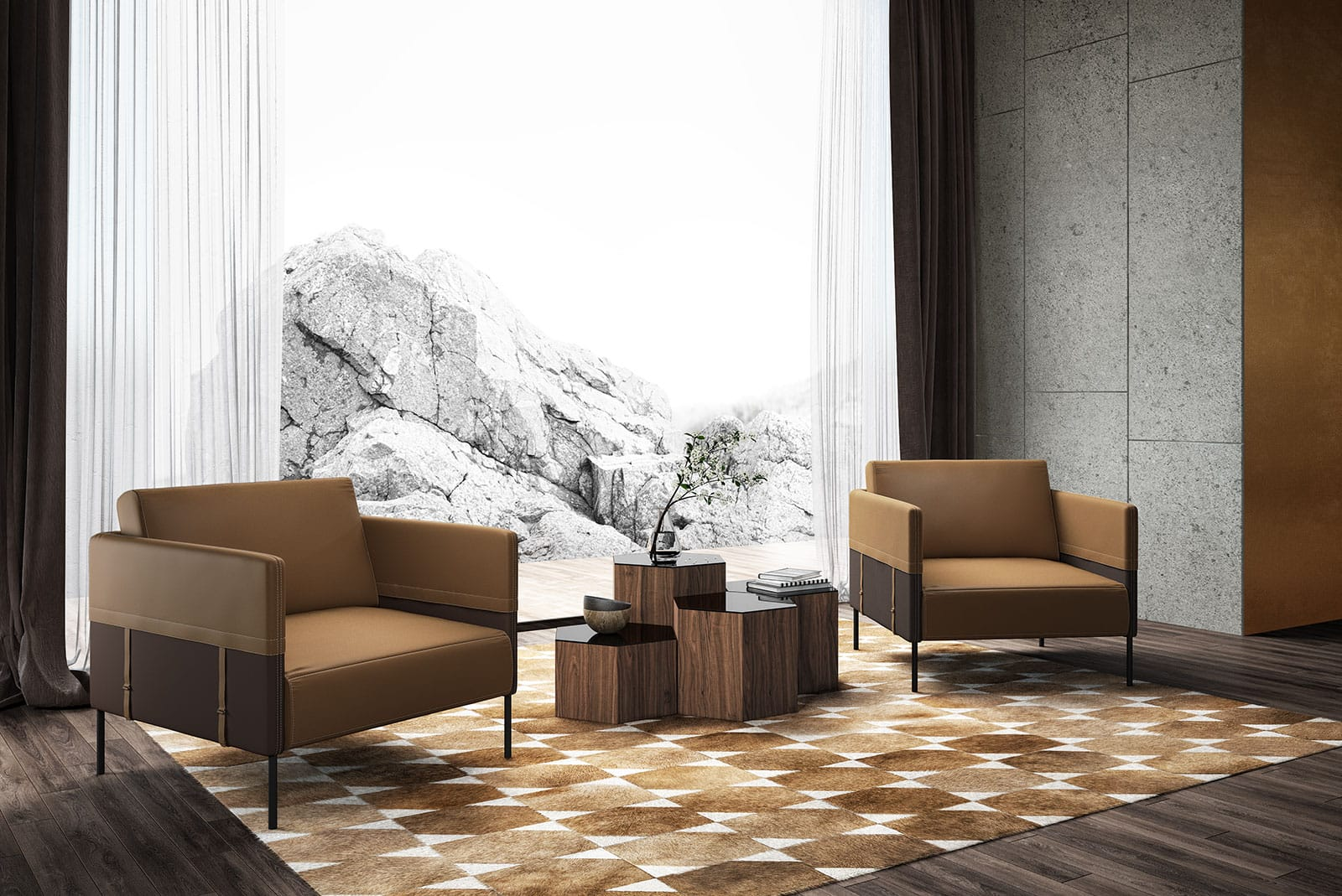 Allen Armchair Safari and Fendi by Modloft